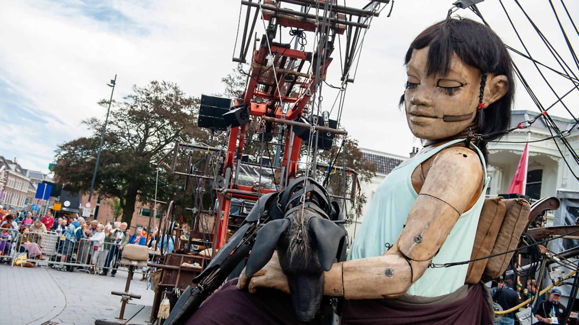 An animated marionette of French street theatre company Royal de Luxe parades through the streets in the European Capital of Culture 2018, Leeuwarden, The Netherlands (Photo by Romy Arroyo Fernandez/NurPhoto via Getty Images) - Credit: NurPhoto via Getty Images