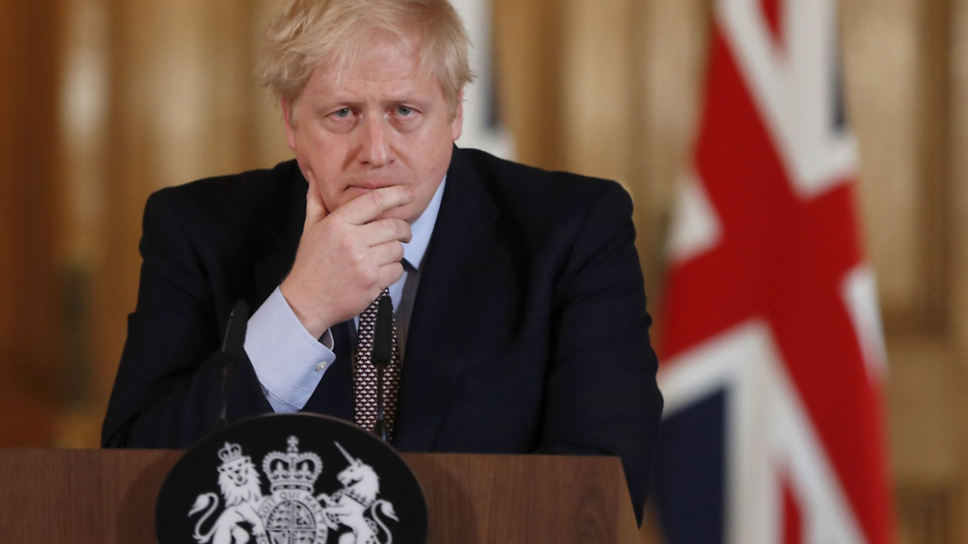 Prime Minister Boris Johnson speaks during a press conference, at 10 Downing Street. Photograph: Frank Augstein/PA Wire. - Credit: PA