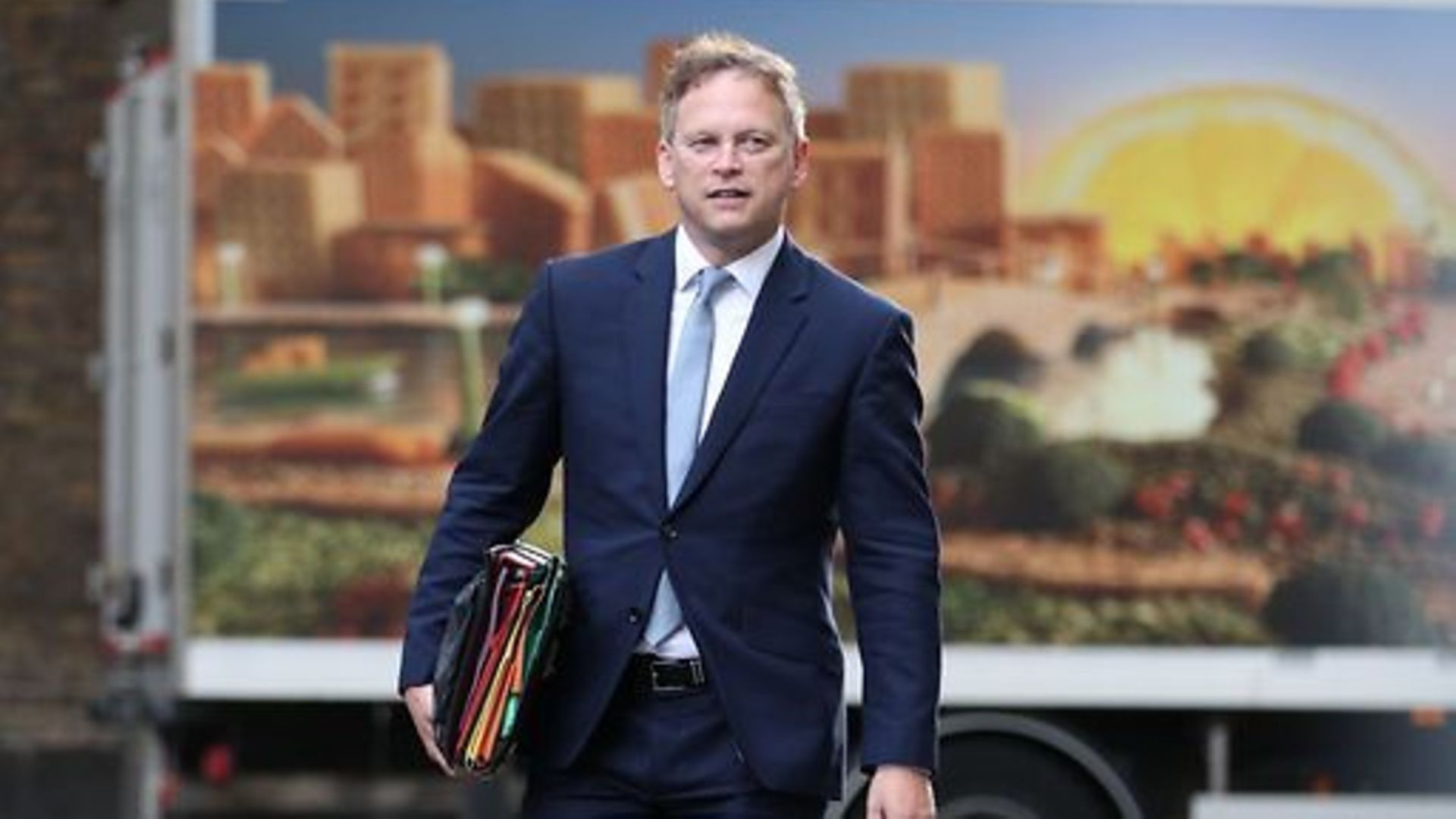 Transport secretary Grant Shapps in Downing Street - Credit: PA