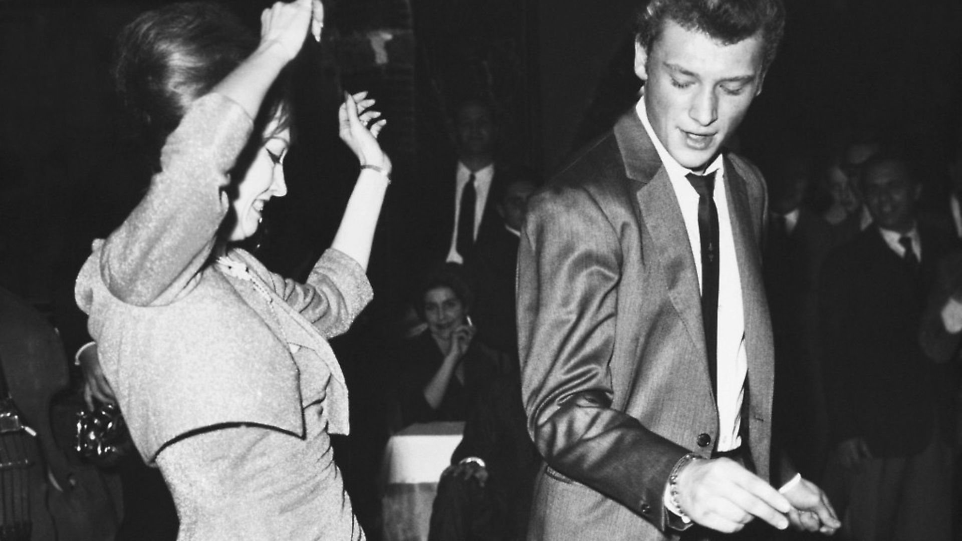 Johnny Hallyday and Valerie Camille dance the twist in Rome, in 1962. Photo: Getty - Credit: Gamma-Keystone via Getty Images
