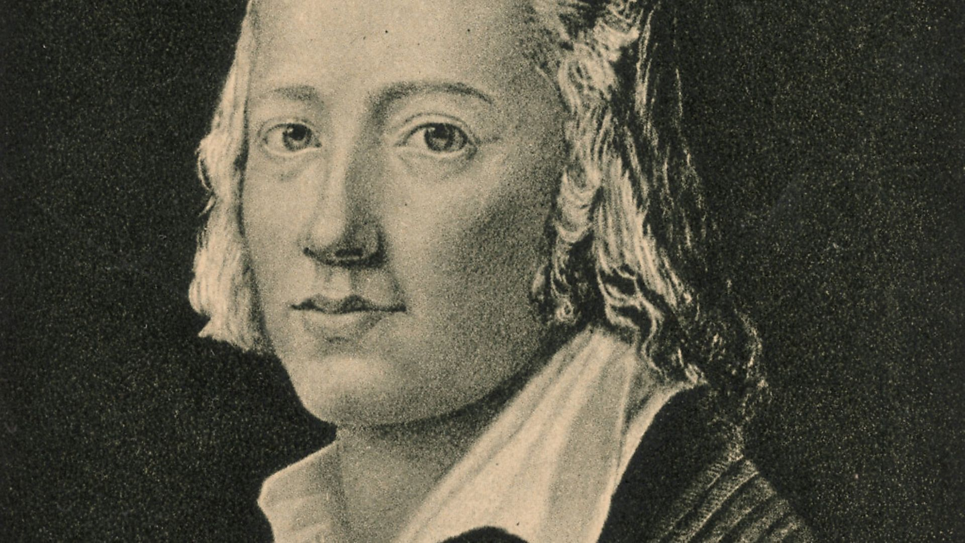 One of Germany's greatest lyric poets, Johann Christian Friedrich Holderlin (1771 - 1843). Although suffering from periods of mental illness, he managed to produce works such as 'An die Hoffnung' (On Hope) and the novel 'Hyperion'.   (Photo by Hulton Archive/Getty Images) - Credit: Getty Images