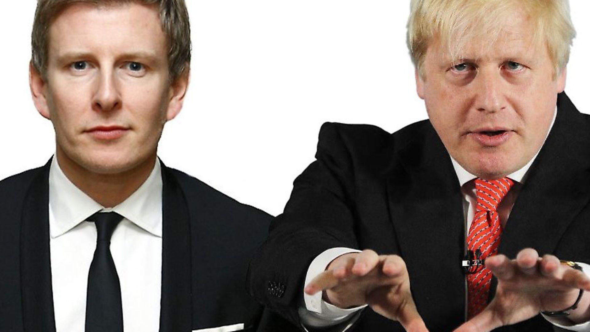 Patrick Kielty and Boris Johnson (PA/Teh3vil/Wikimedia) - Credit: Archant