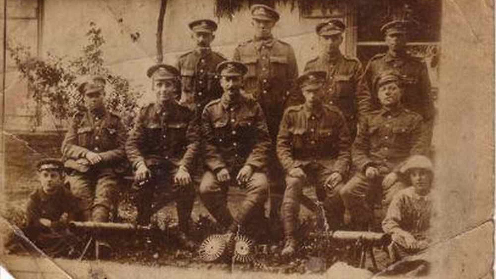 Edward Connelly (seated, far left) in the only surviving photograph of the 19-year-old who fell at Harelbeke. Picture: Charlie Connelly - Credit: Archant