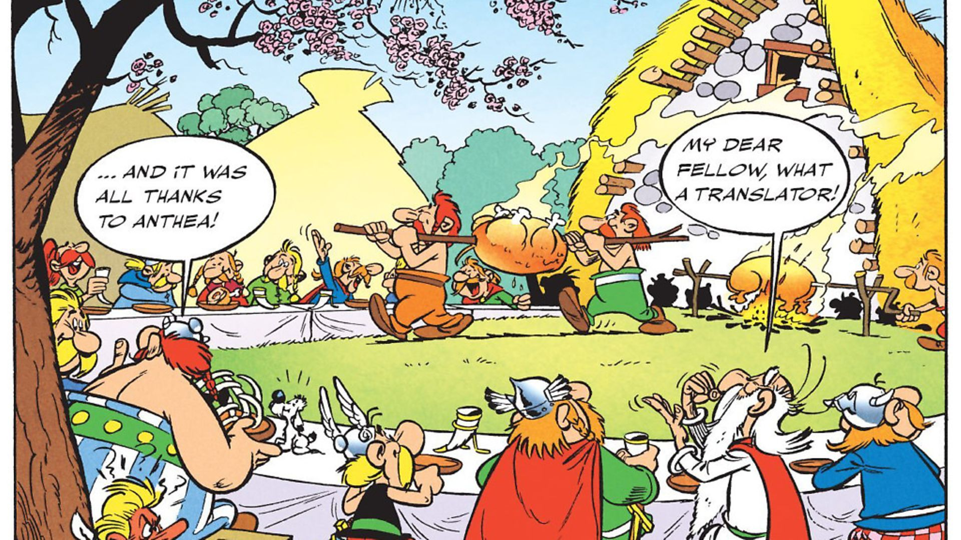 An Asterix birthday tribute to Anthea Bell tweeted by her son, the Times journalist Oliver Kamm following her death last month. Picture: Archant - Credit: Archant
