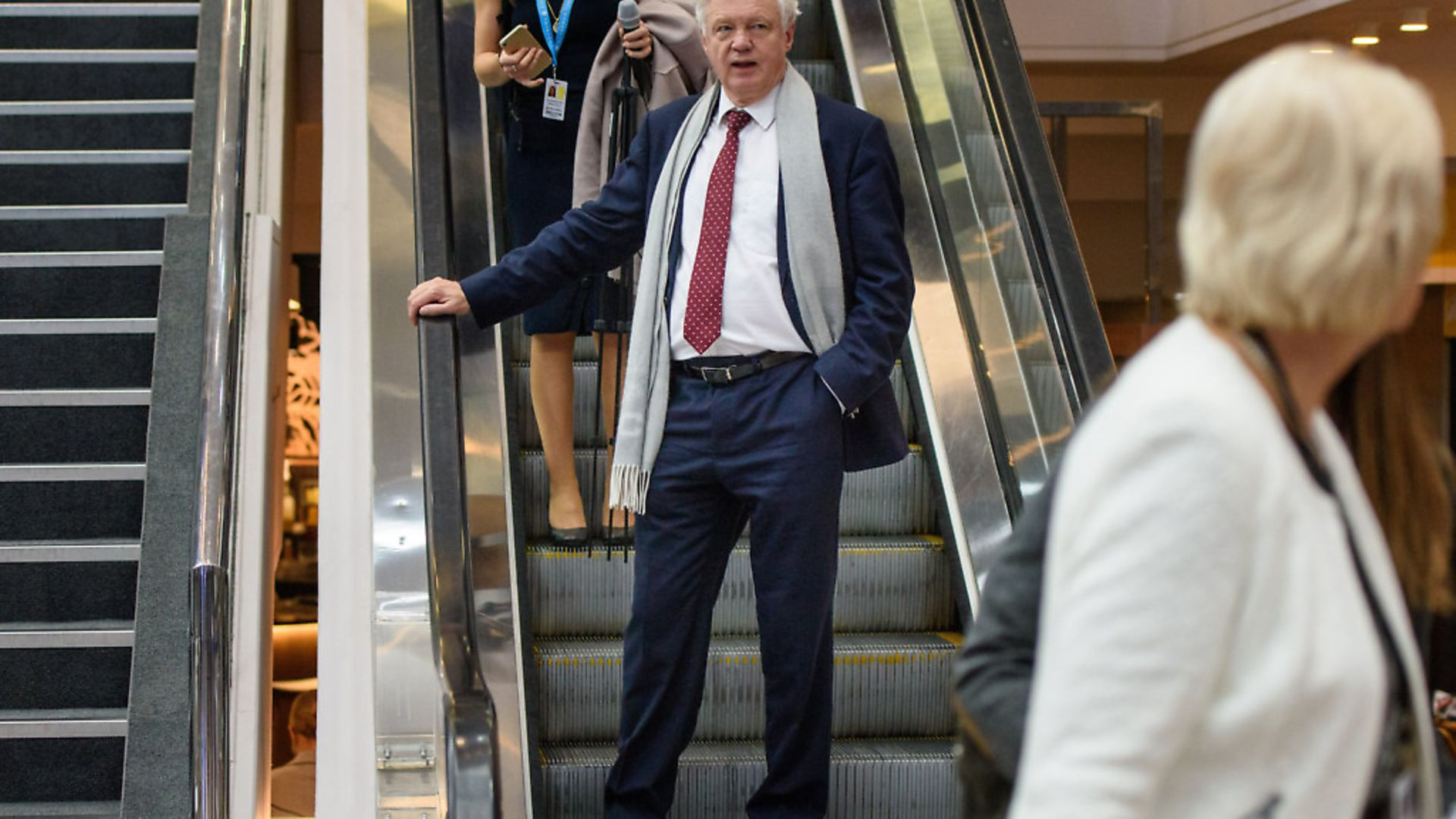 David Davis MP during the Conservative Party annual conference. Photograph: Matt Crossick/EMPICS. - Credit: Empics Entertainment