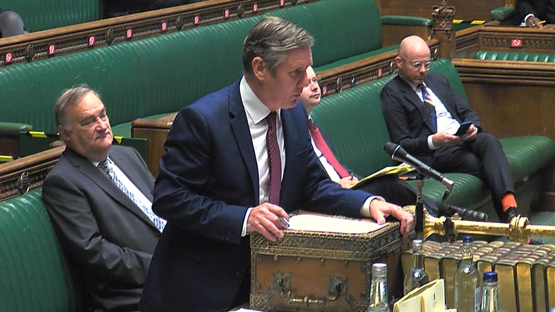 Labour leader Keir Starmer speaks during Prime Minister's Questions - Credit: PA