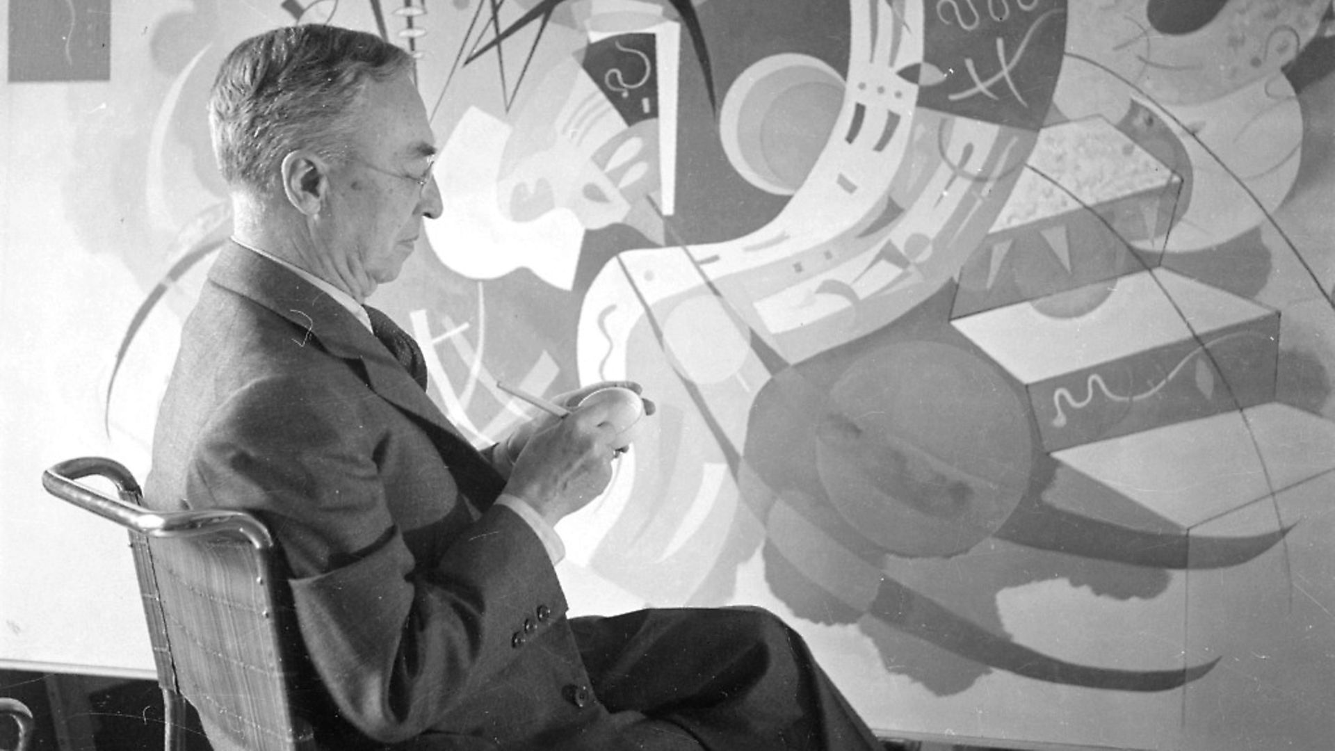 Russian painter Wassily Kandinsky pictured in France, 1936. Photo: by Lipnitzki/Roger Viollet/Getty Images - Credit: Roger Viollet/Getty Images