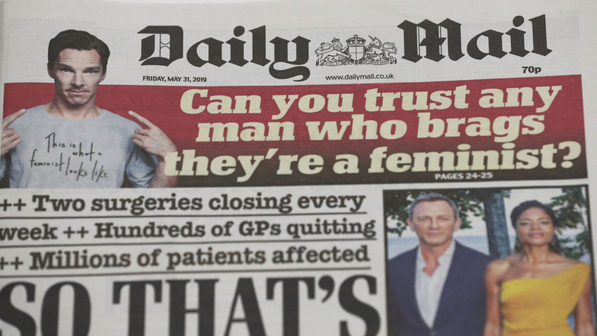 A masthead for a former edition of the Daily Mail. - Credit: PA