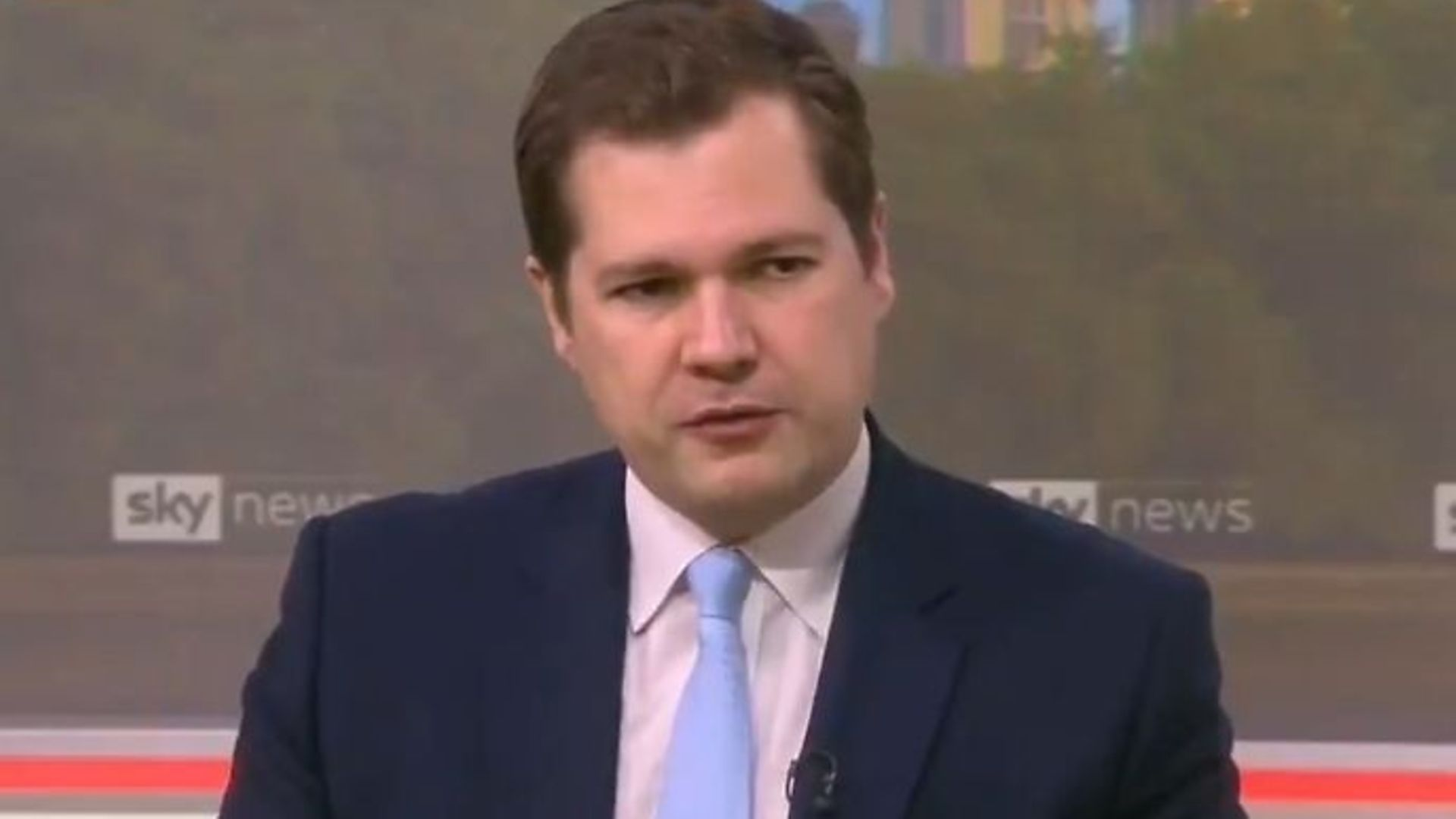 Tory cabinet minister Robert Jenrick on Sky News - Credit: Sky News, Twitter