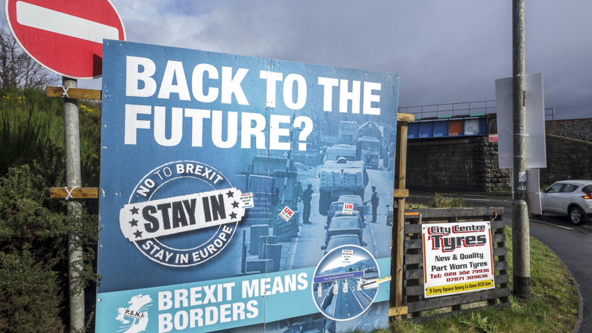 The virtually unmarked Irish-UK border near the Northern Irish town of Newry, UK - Credit: DPA/PA Images
