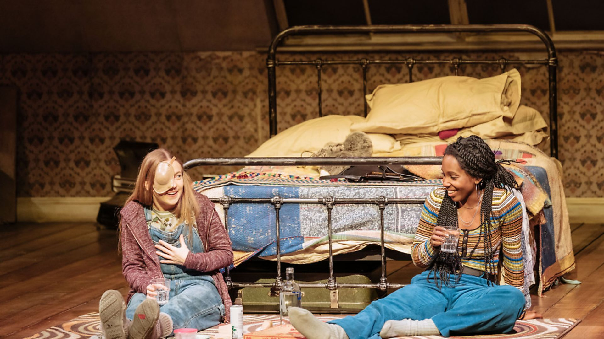 No laughing matter: Imogen Doel and Tamara Lawrence in The Tell-Tale Heart. Photo: Manuel Harlan - Credit: Archant