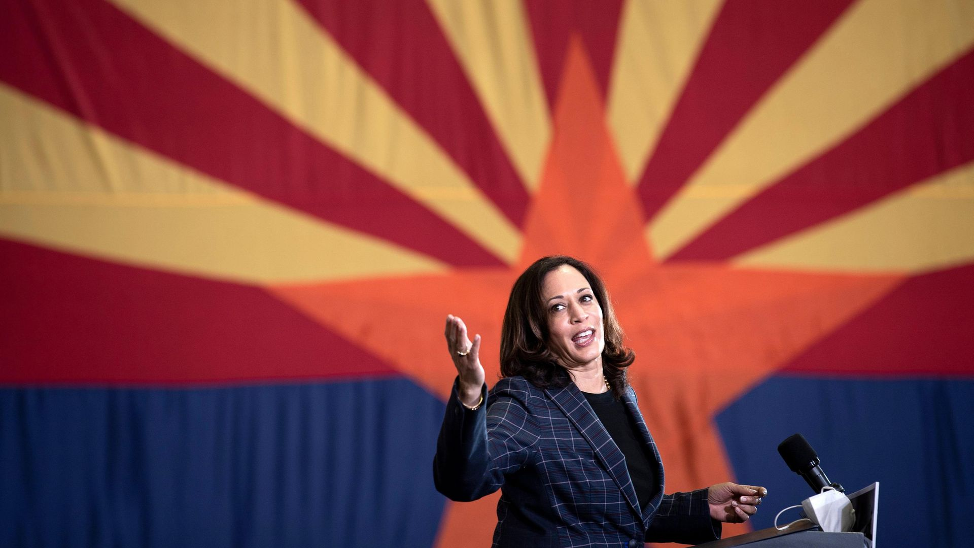 US Democratic vice presidential nominee and Senator from California, Kamala Harris - Credit: AFP via Getty Images