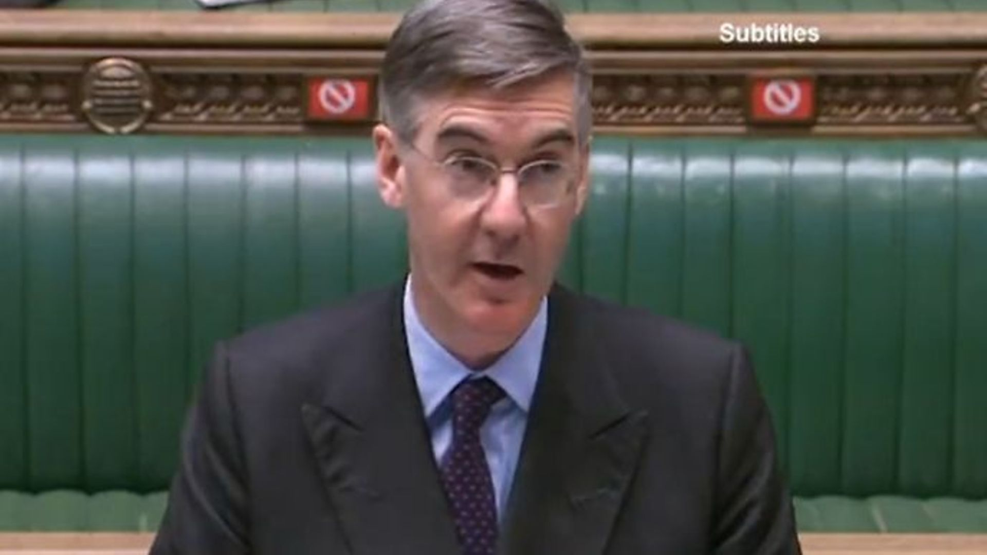 Jacob Rees-Mogg in the House of Commons - Credit: Twitter