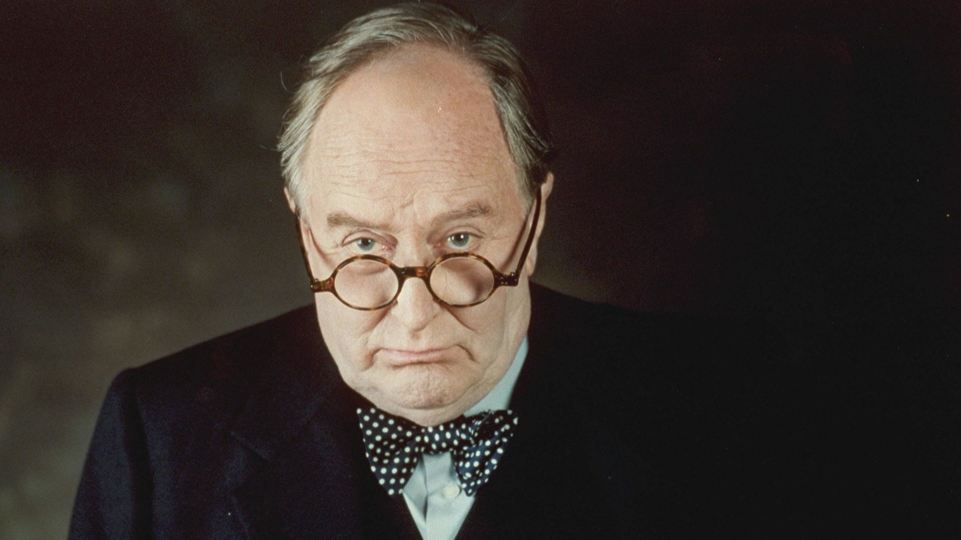 Portrait of Robert Hardy as Winston Churchill - Credit: Sygma via Getty Images