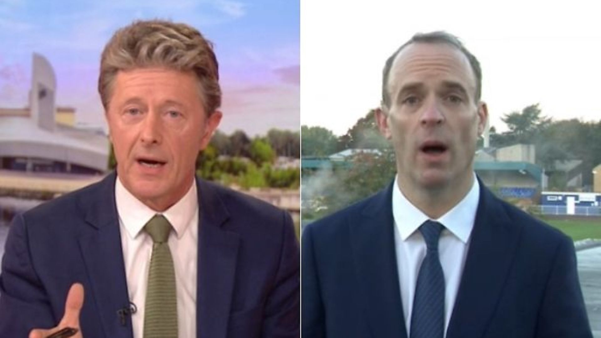 Dominic Raab clashes with Charlie Stayt on BBC Breakfast - Credit: BBC