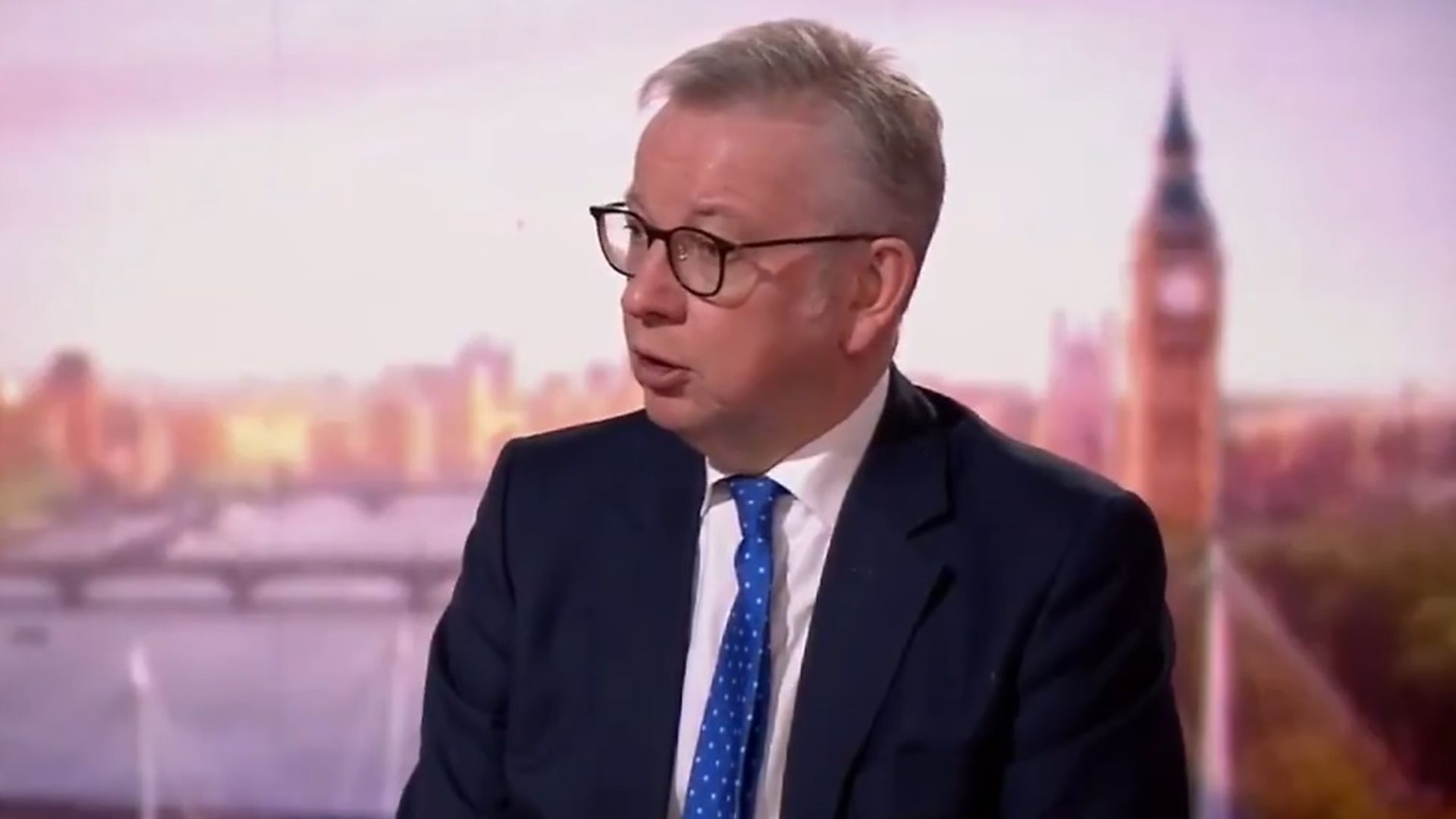 Michael Gove is challenged over Brexit by Andrew Marr - Credit: BBC