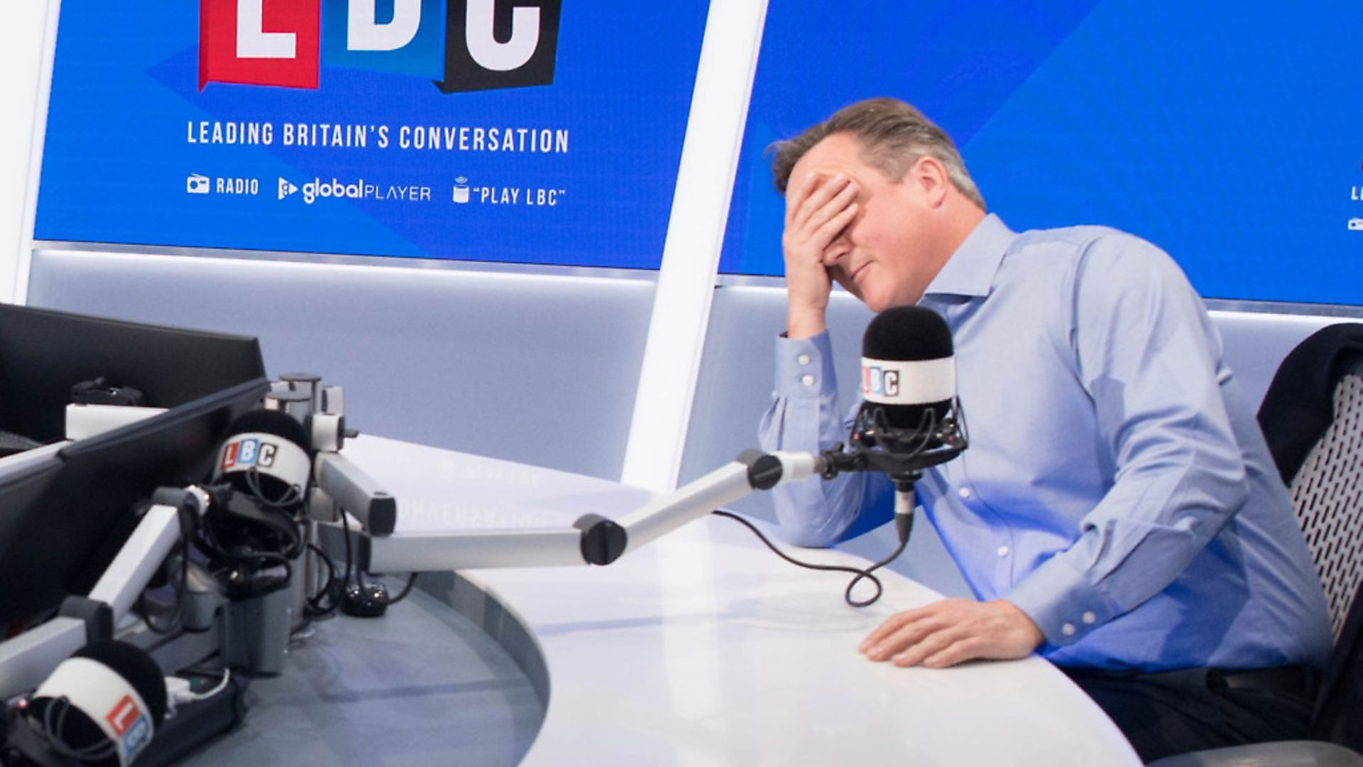 Former prime minister David Cameron during a radio interview. Photograph: Stefan Rousseau/PA. - Credit: PA Wire/PA Images
