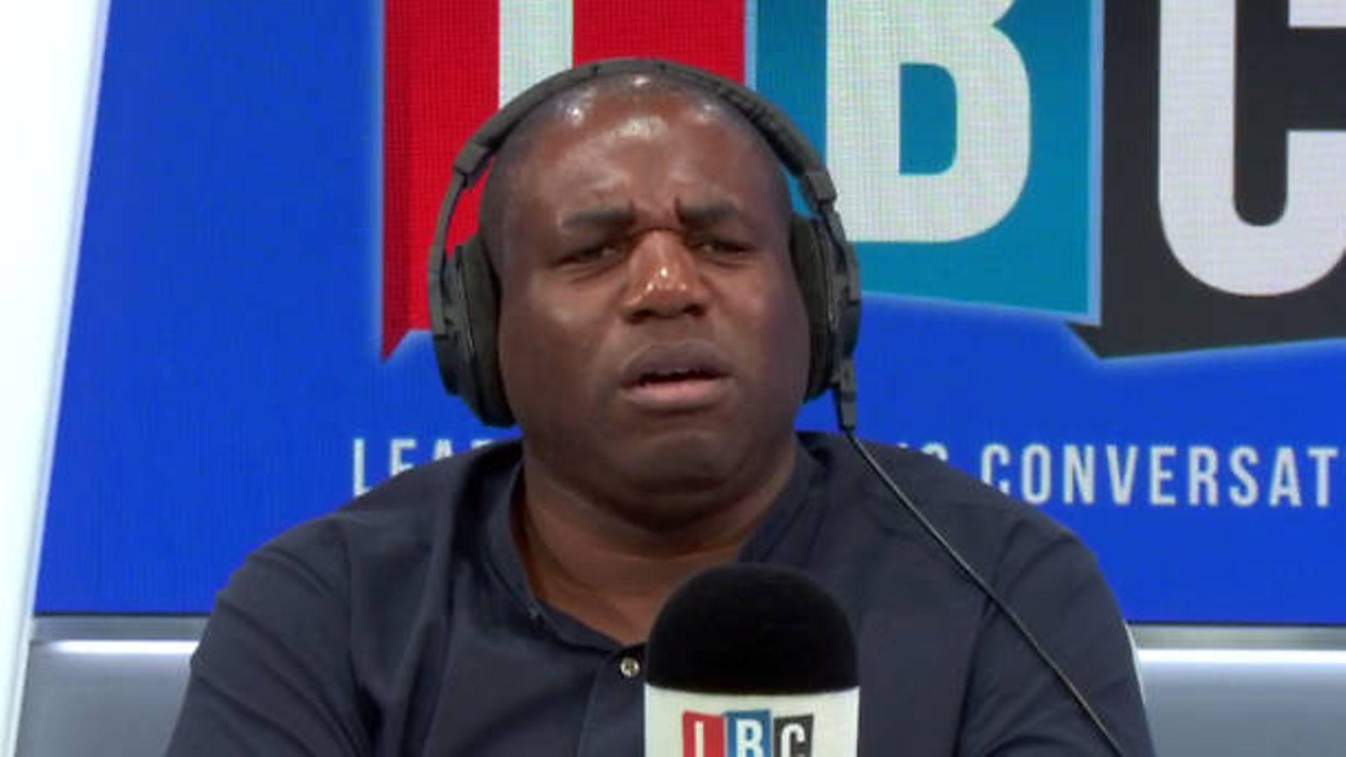 David Lammy takes calls on his LBC Radio show - Credit: LBC