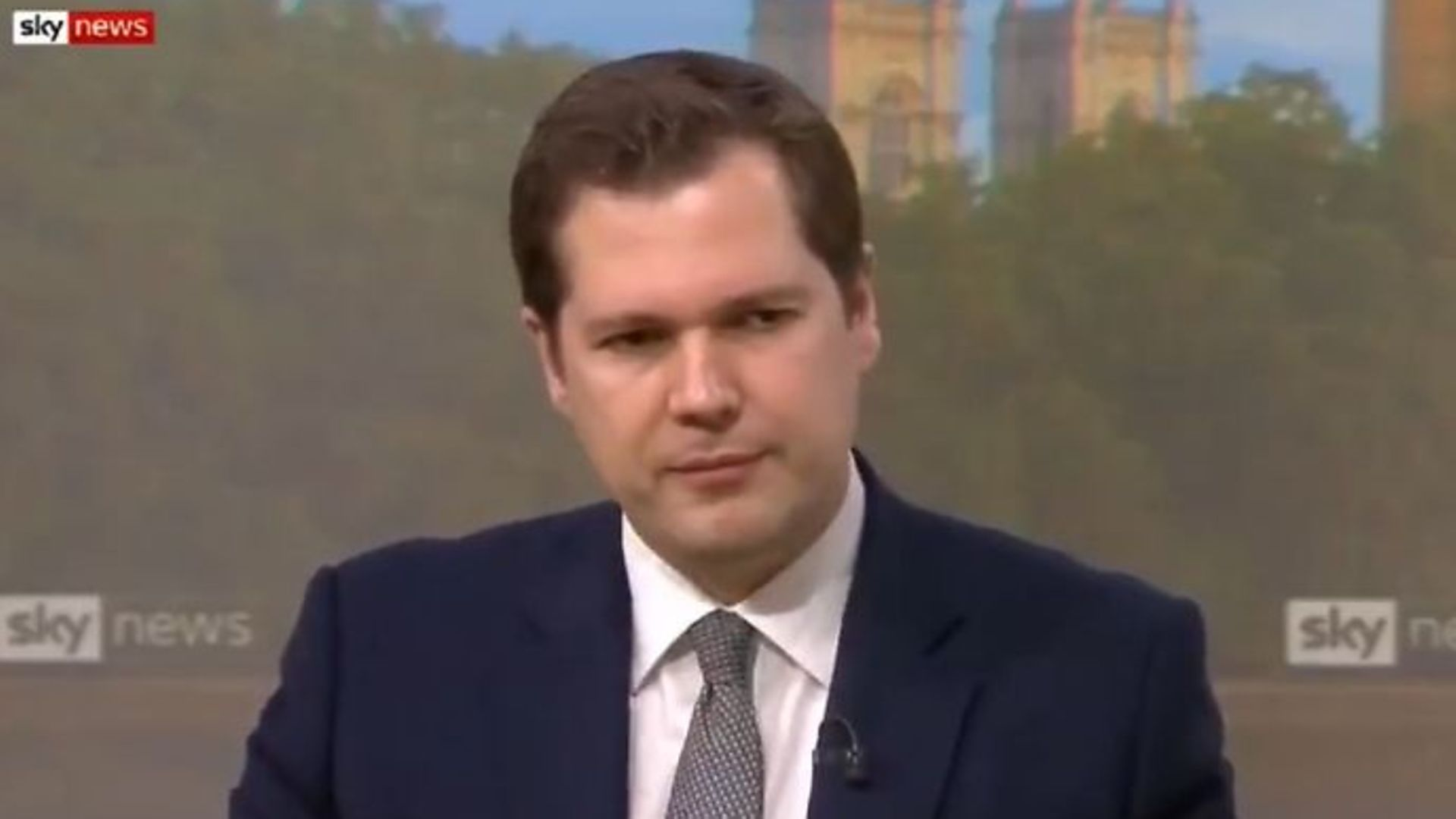Communities minister Robert Jenrick on Sky News - Credit: Twitter