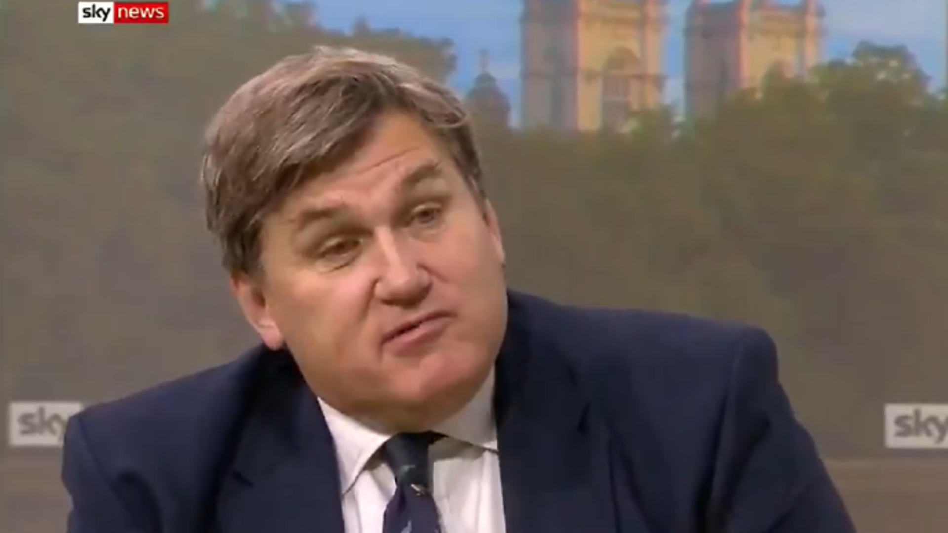 Policing minister Kit Malthouse on Kay Burley @ Breakfast - Credit: Twitter, Sky News