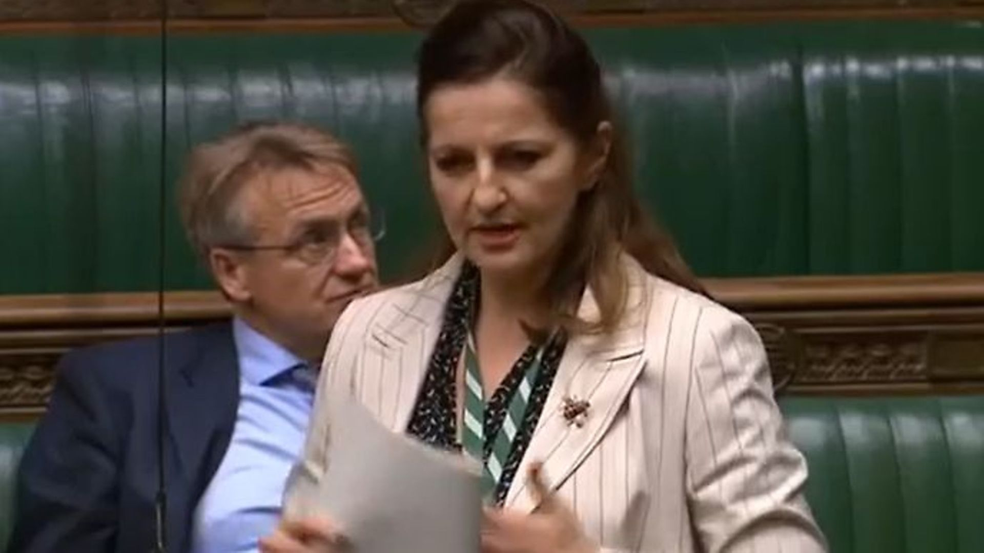 Eastbourne MP Caroline Ansell speaking in the House of Commons - Credit: Facebook, Parliamentlive.tv
