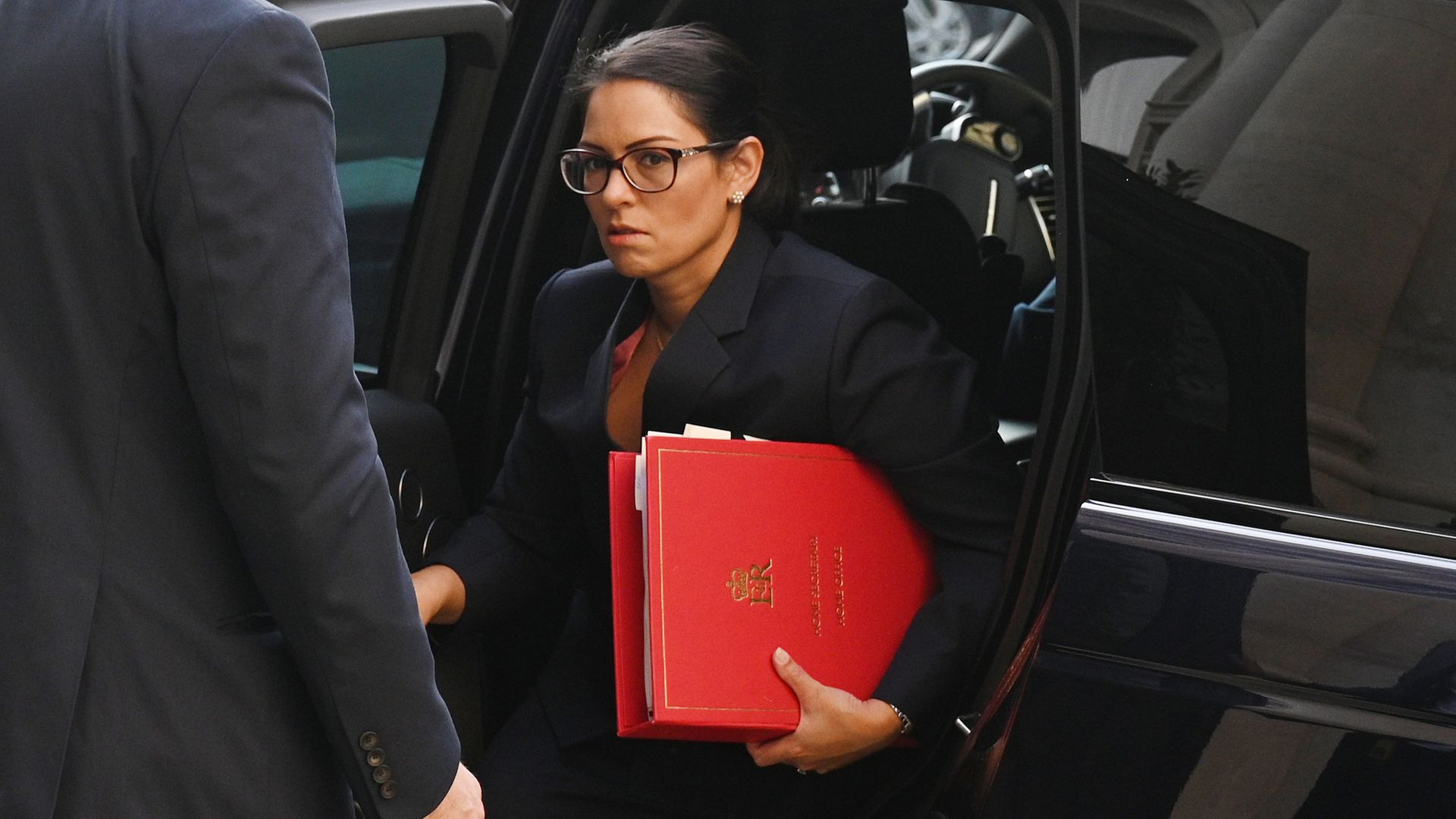 Home secretary Priti Patel arrives at the Foreign and Commonwealth Office (FCO) in London, for a Cabinet meeting held at the FCO. - Credit: PA