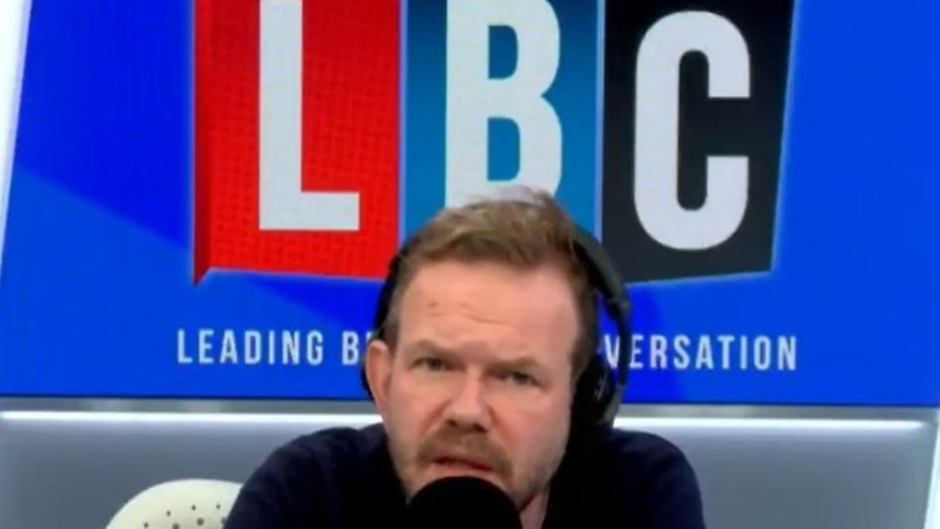 James O'Brien said the coronavirus crisis has exposed the government as being out of touch with reality - Credit: Twitter, LBC
