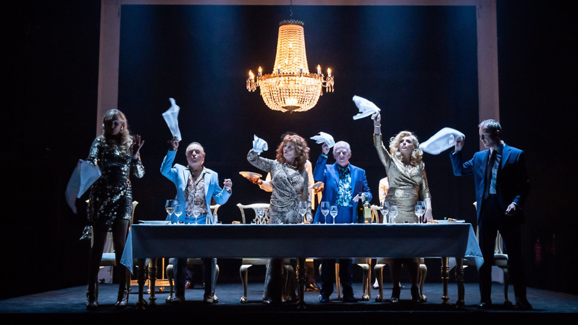 The ensemble in Celebration. Photo: Marc Brenner. - Credit: Archant