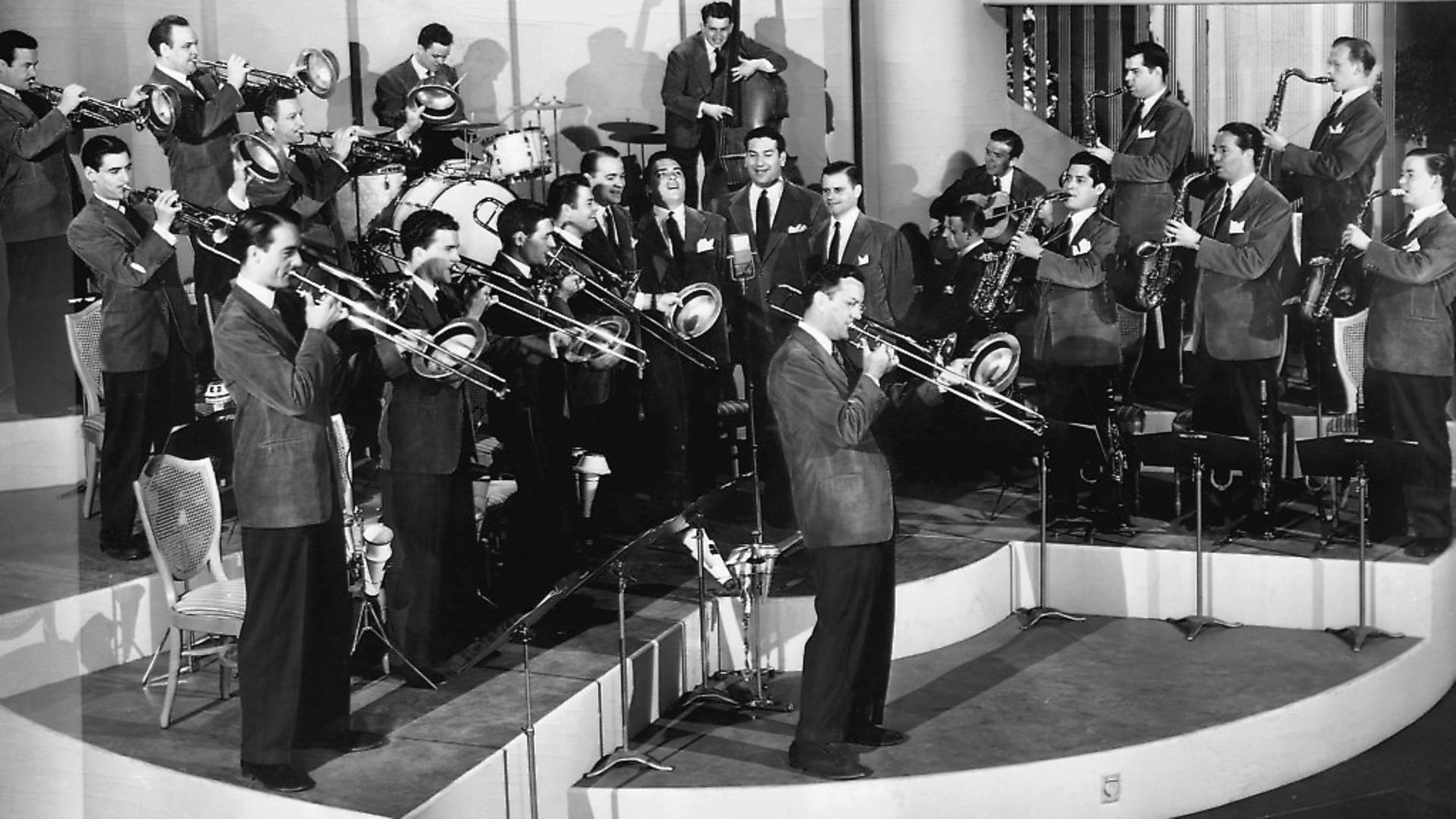 The Glenn Miller Orchestra in Sun Valley Serenade, 1940. Photo Getty Images - Credit: Bettmann Archive