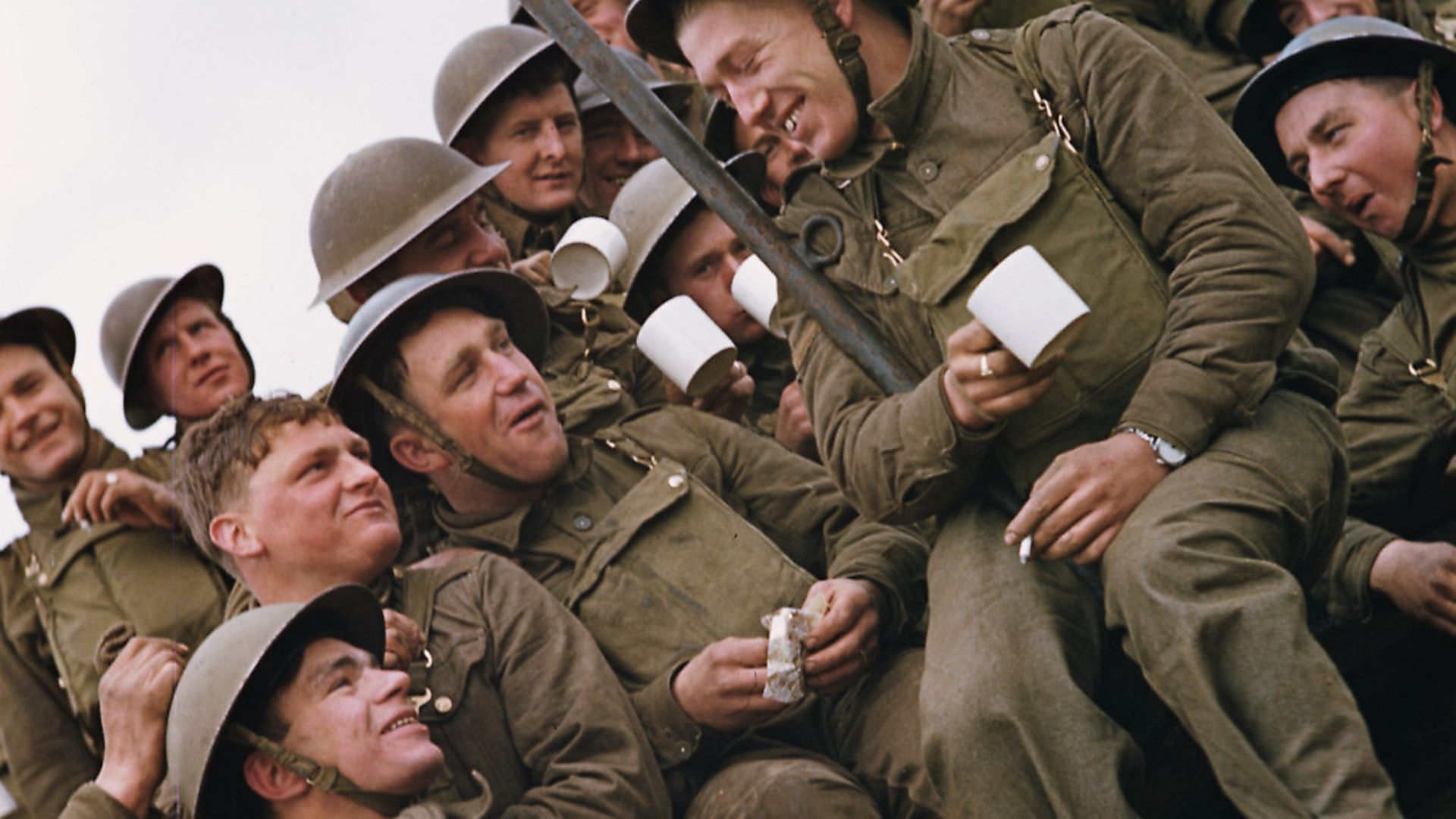 A group of British soldiers having a tea-break, circa 1944. Photo:Fox Photos/Hulton Archive/Getty Images. - Credit: Getty Images