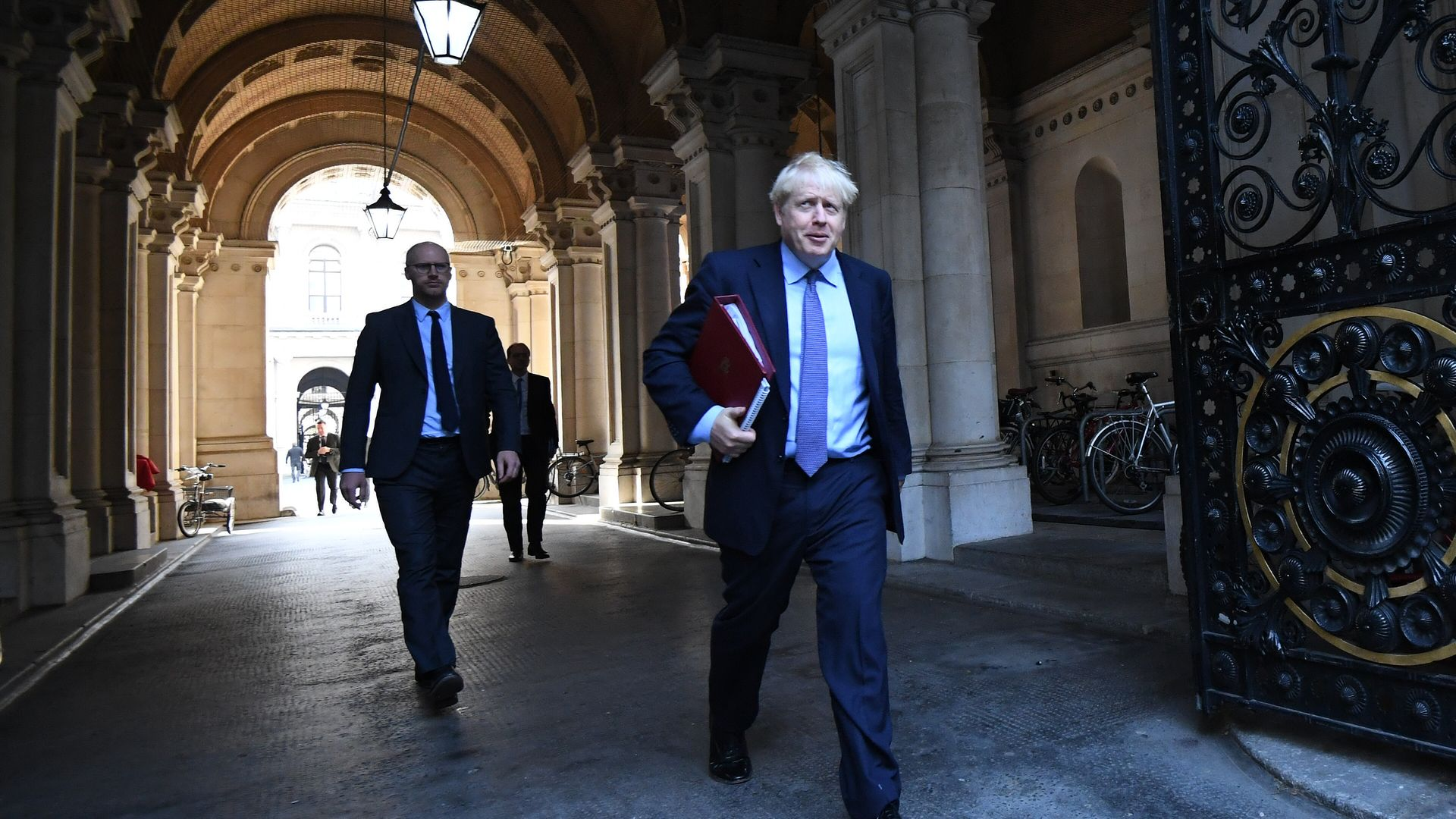 Prime Minister Boris Johnson leaves a Cabinet meeting at the Foreign and Commonwealth Office, London. - Credit: PA