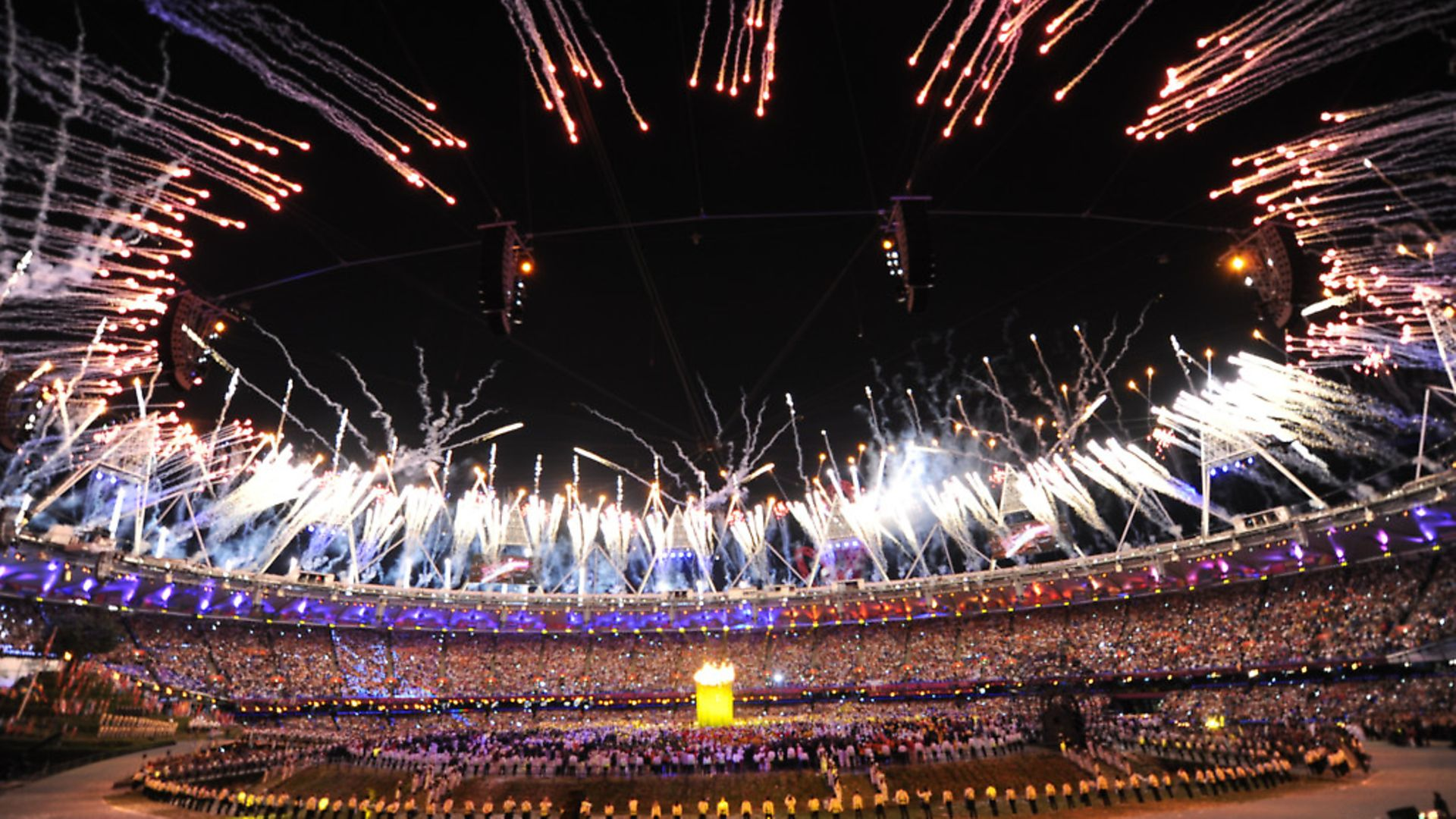 Fireworks during the London Olympic Games 2012 Opening Ceremony at the Olympic Stadium. Picture: ABACA/PA Images - Credit: ABACA/PA Images