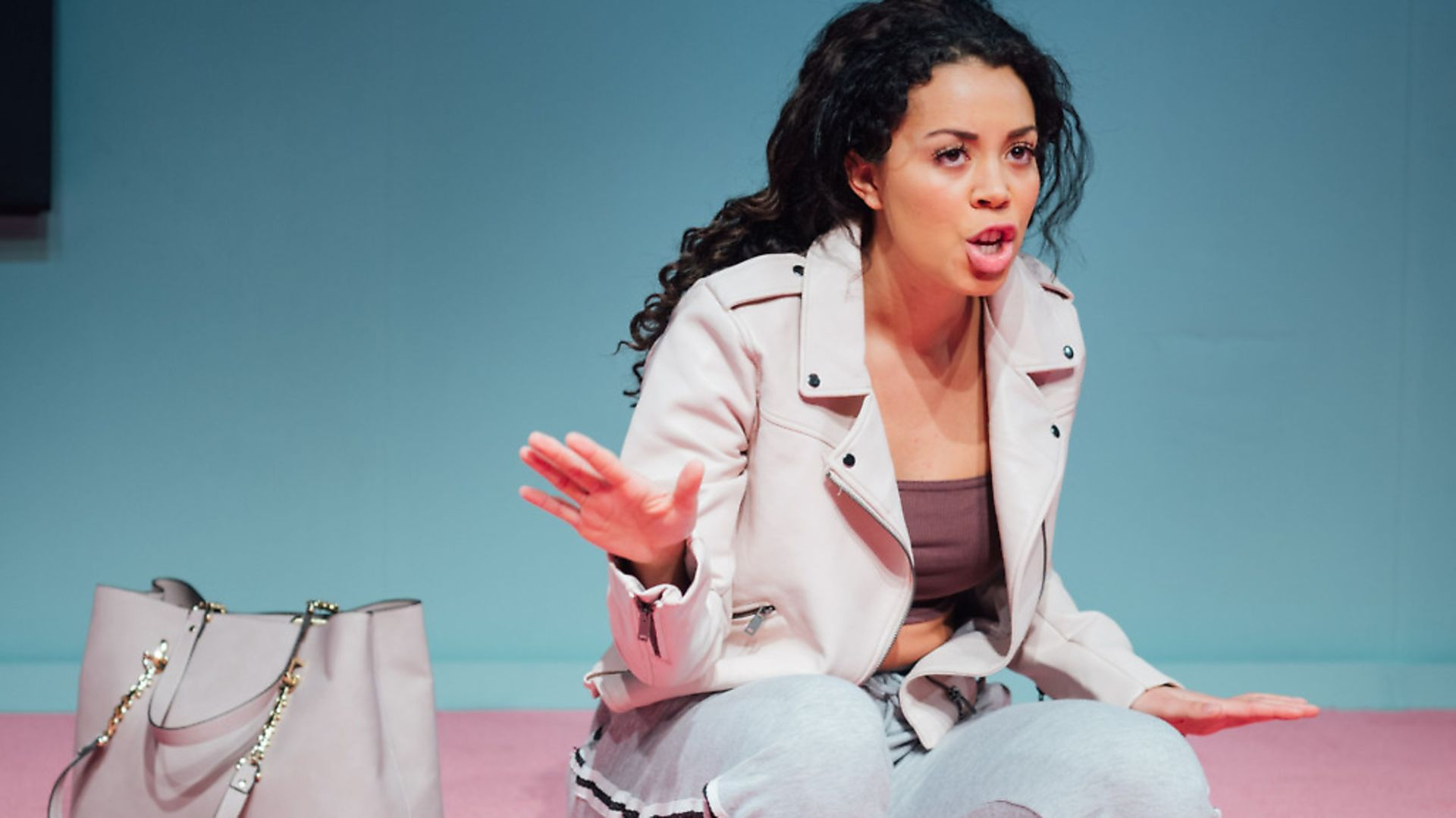 Nicôle Lecky performing in Superhoe. Picture: Helen Marray/Royal Court Theatre. - Credit: Helen Marray