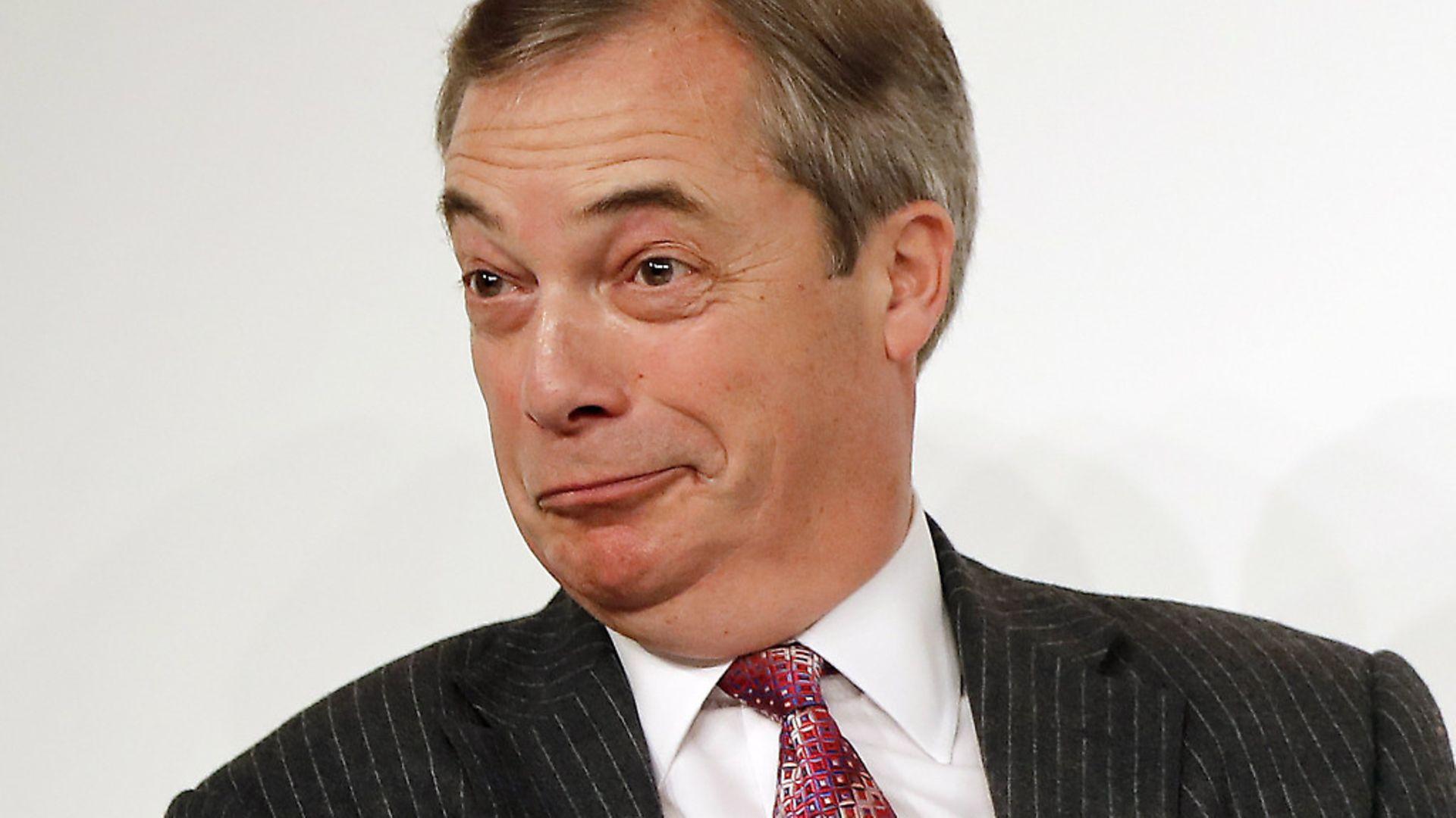 Nigel Farage makes is one of the Brexiteers of the Week.  Photo: OLGA AKMEN/AFP/Getty Images - Credit: AFP/Getty Images