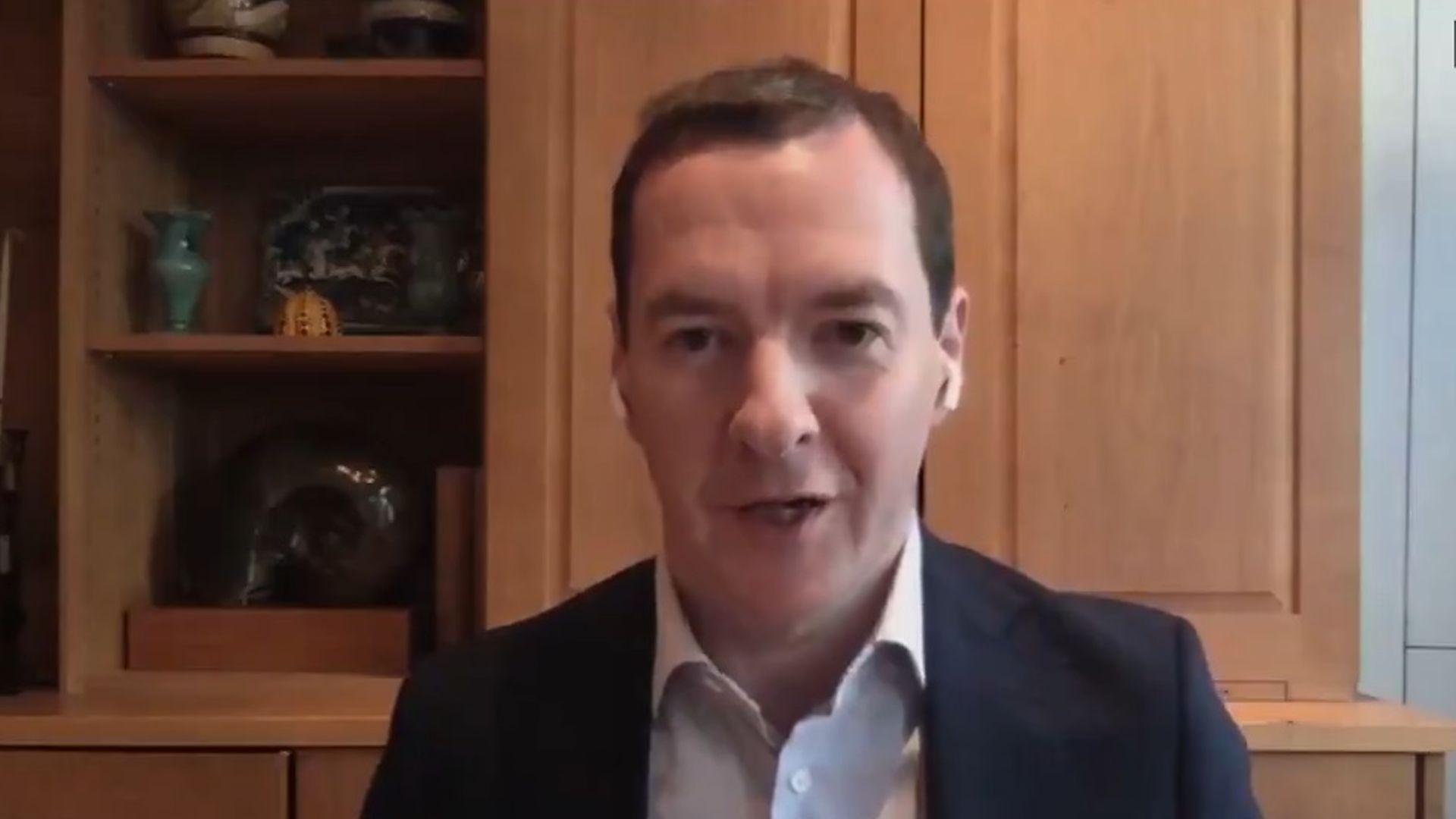 Former Conservative chancellor George Osborne - Credit: CNN