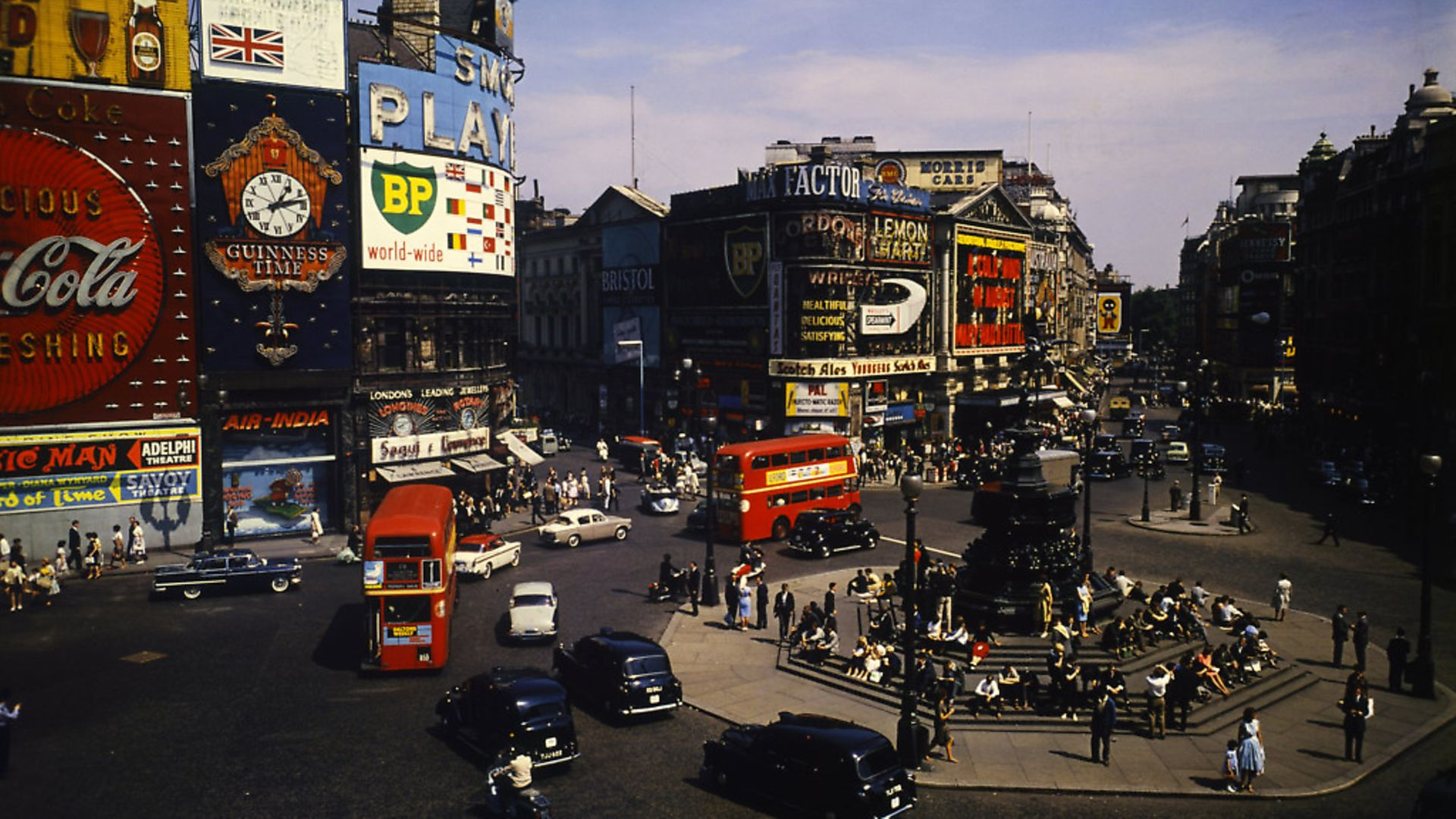 London's Piccadilly Circus, 1961. Photo: Bettmann Archive - Credit: Bettmann Archive