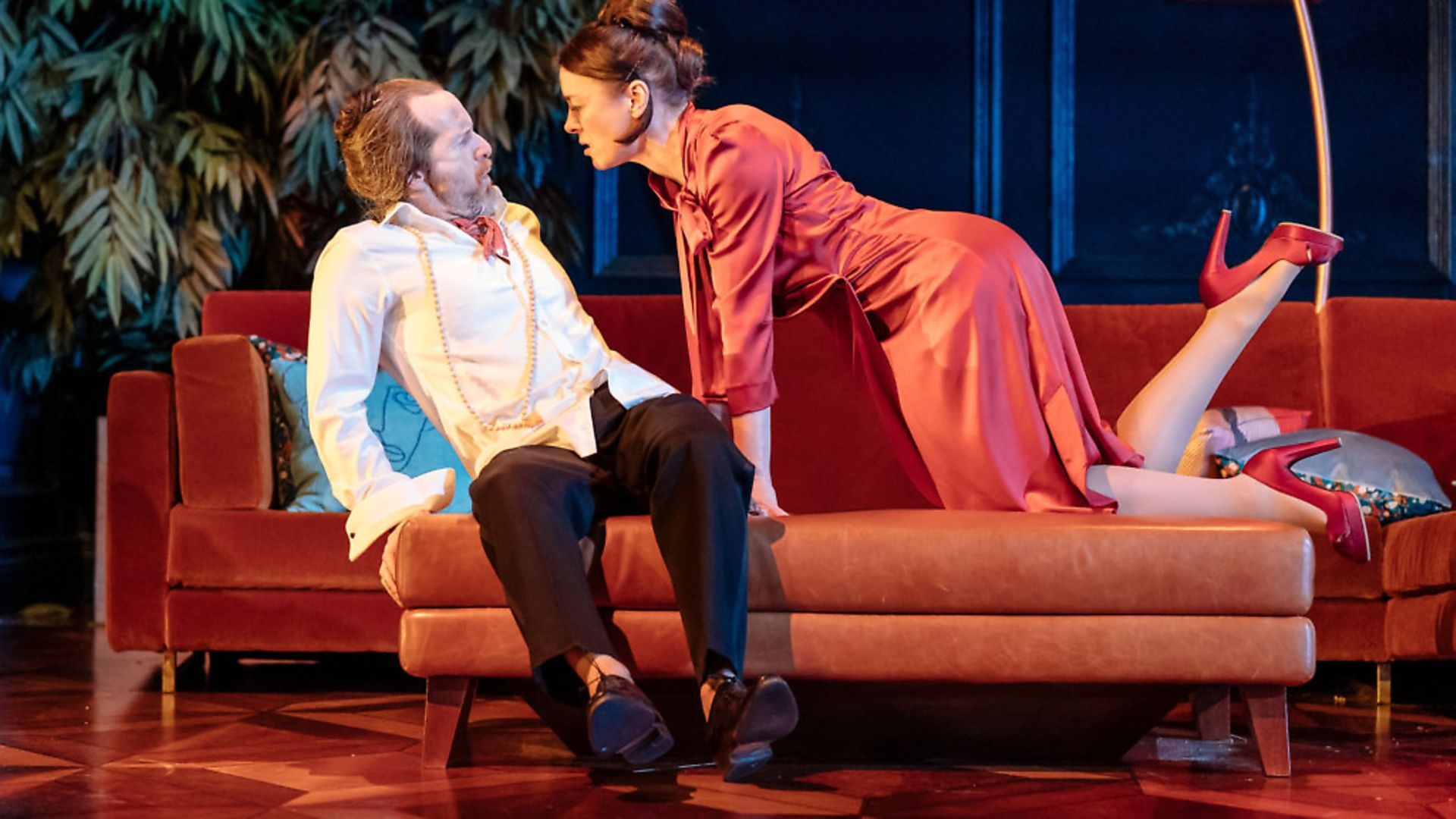 Denis O'Hare and Olivia Williams in Tartuffe at the National Theatre. Picture: Manuel Harlan - Credit: Archant