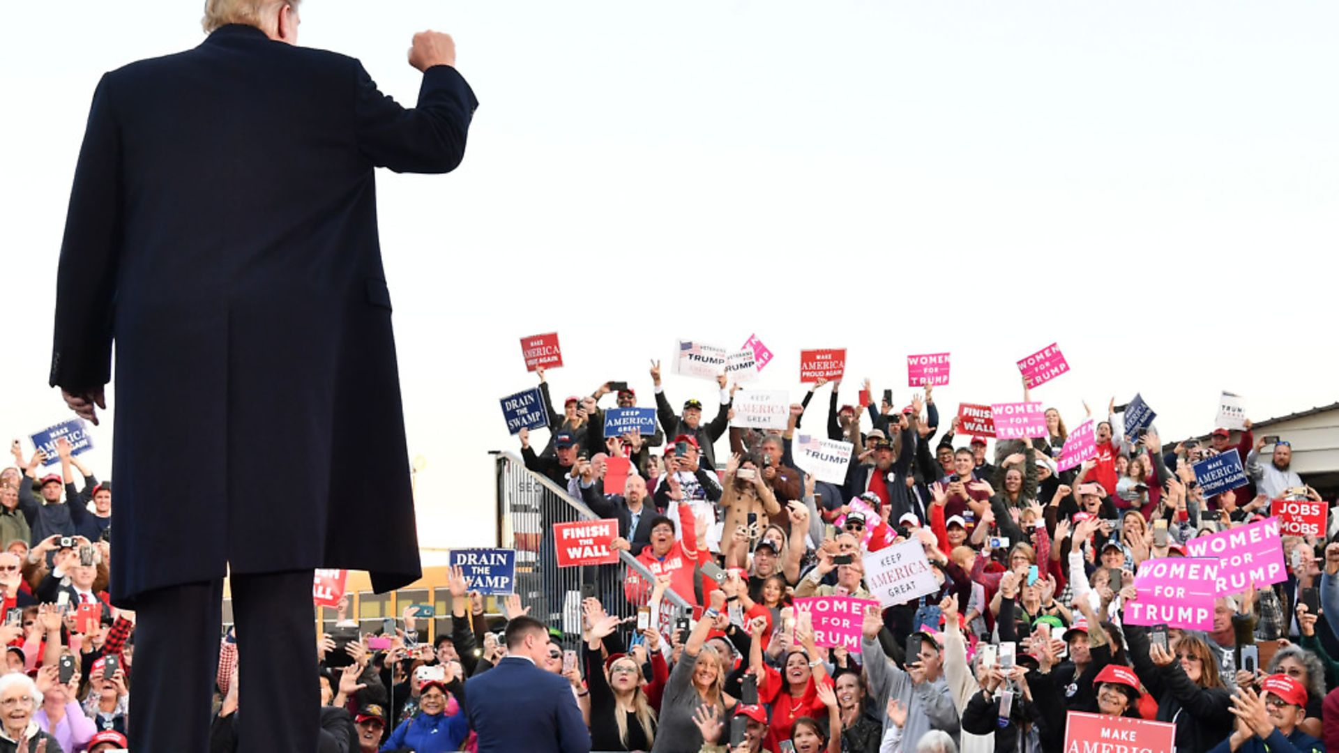 US President Donald Trump does the talking so his fans don't have to think for themselves. Picture: Nicholas Kamm/AFP/Getty Images - Credit: AFP/Getty Images