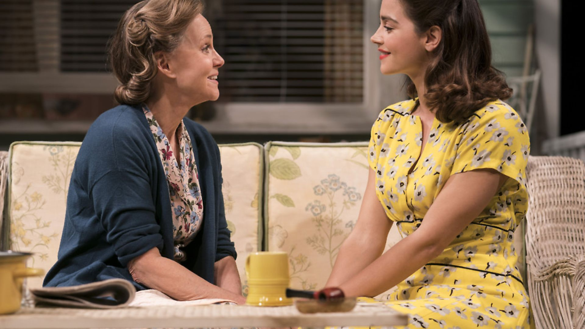 Sally Field as Kate Keller and Jenna Coleman as Ann Deever in All My Sons at The Old Vic, Credit: Johan Persson - Credit: Archant