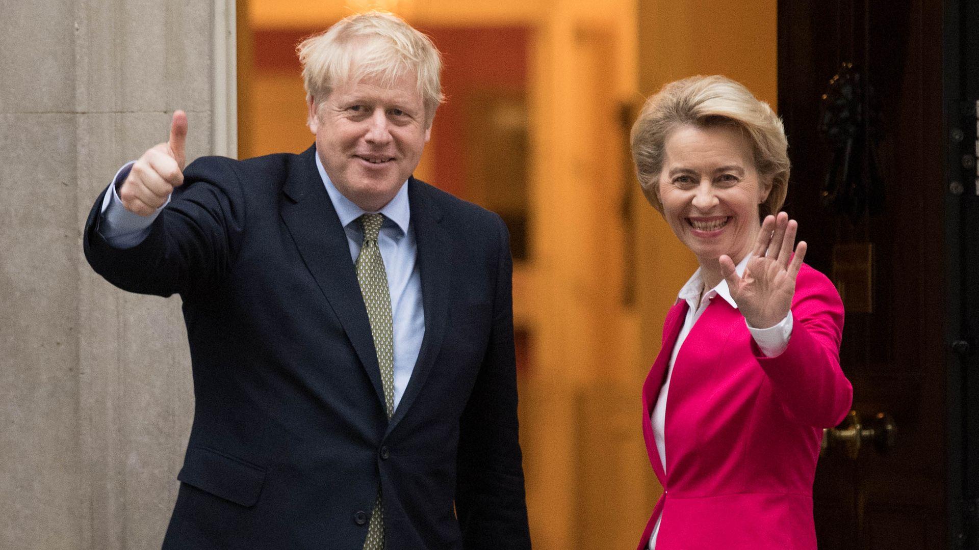 UK prime minister Boris Johnson and Ursula von der Leyen from the European Commission - Credit: PA