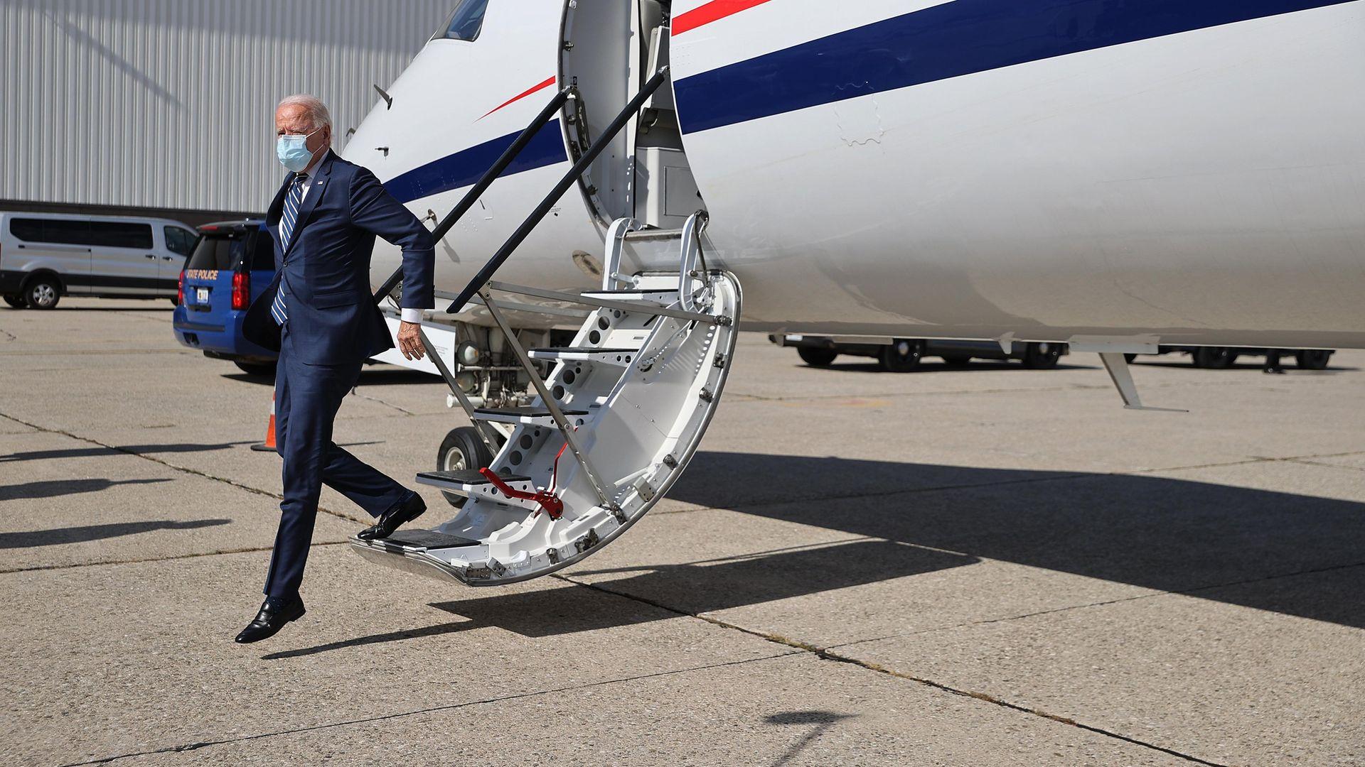 Joe Biden campaigns in Michigan. - Credit: Getty Images
