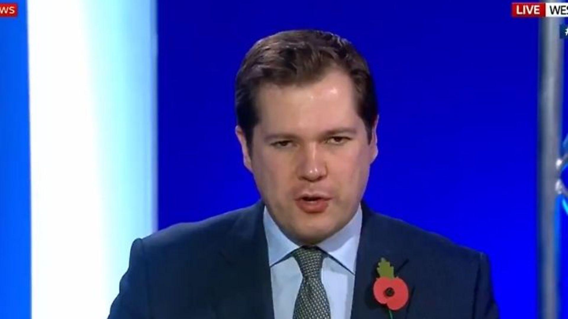 Housing and communities minister Robert Jenrick on Sky News - Credit: Twitter