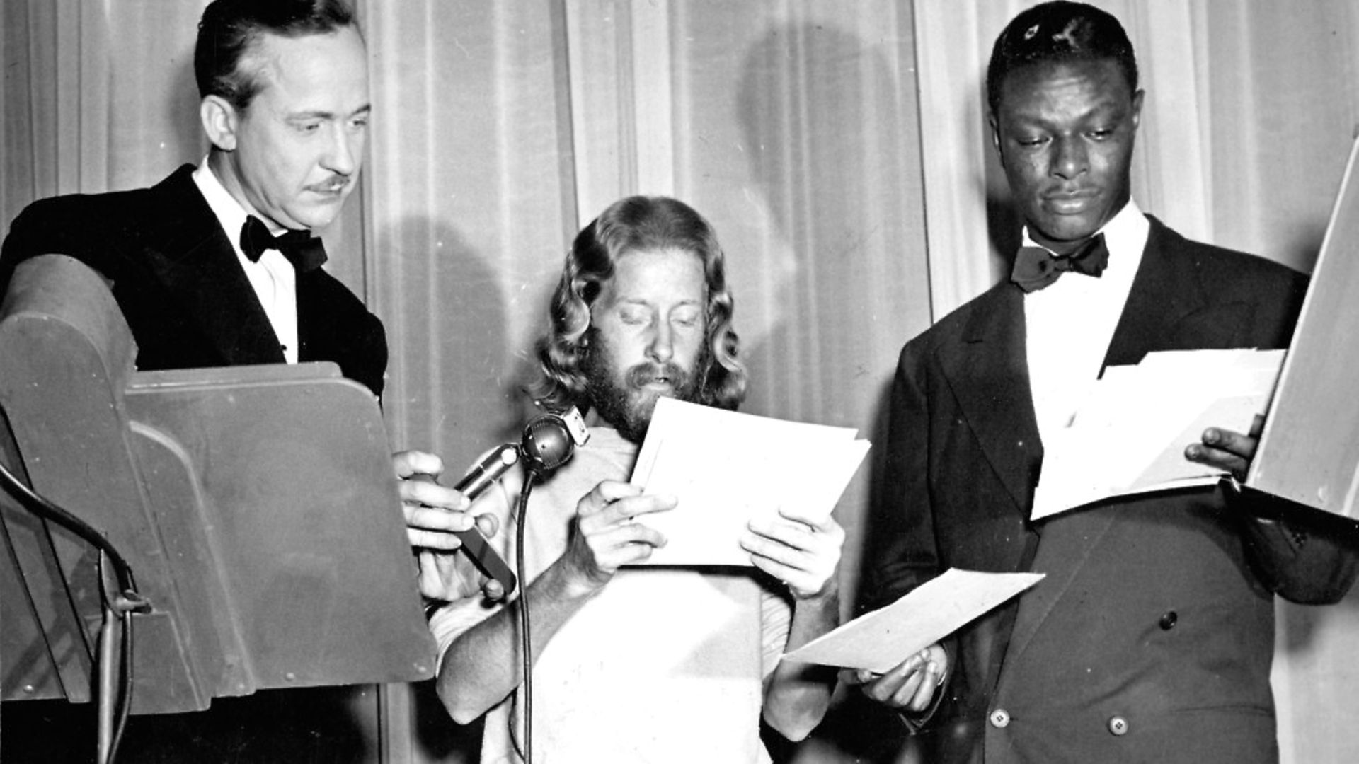 """LOS ANGELES - 1948:  Entertainer and pianist Nat """"King"""" Cole poses for a portrait with #1 hit """"Nature Boy"""" songwriter Eden Ahbez in 1948 in Los Angeles, California. (Photo by Michael Ochs Archives/Getty Images) - Credit: Archant"""