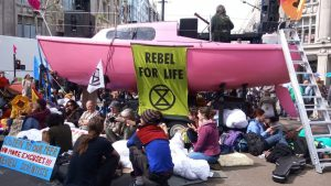 An Extinction Rebellion's climate change protest location in central London. Photo: ANNA MUNRO - Credit: Archant