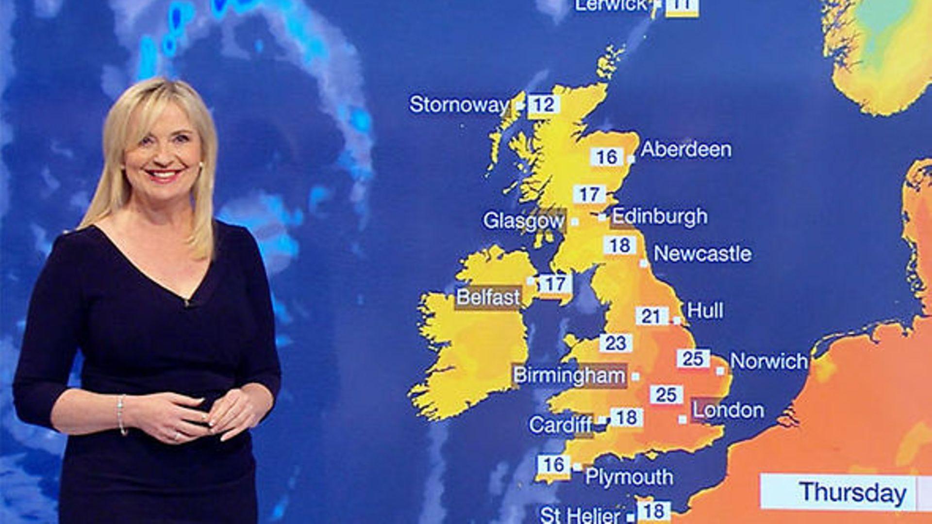 A BBC weather forecast - Credit: BBC