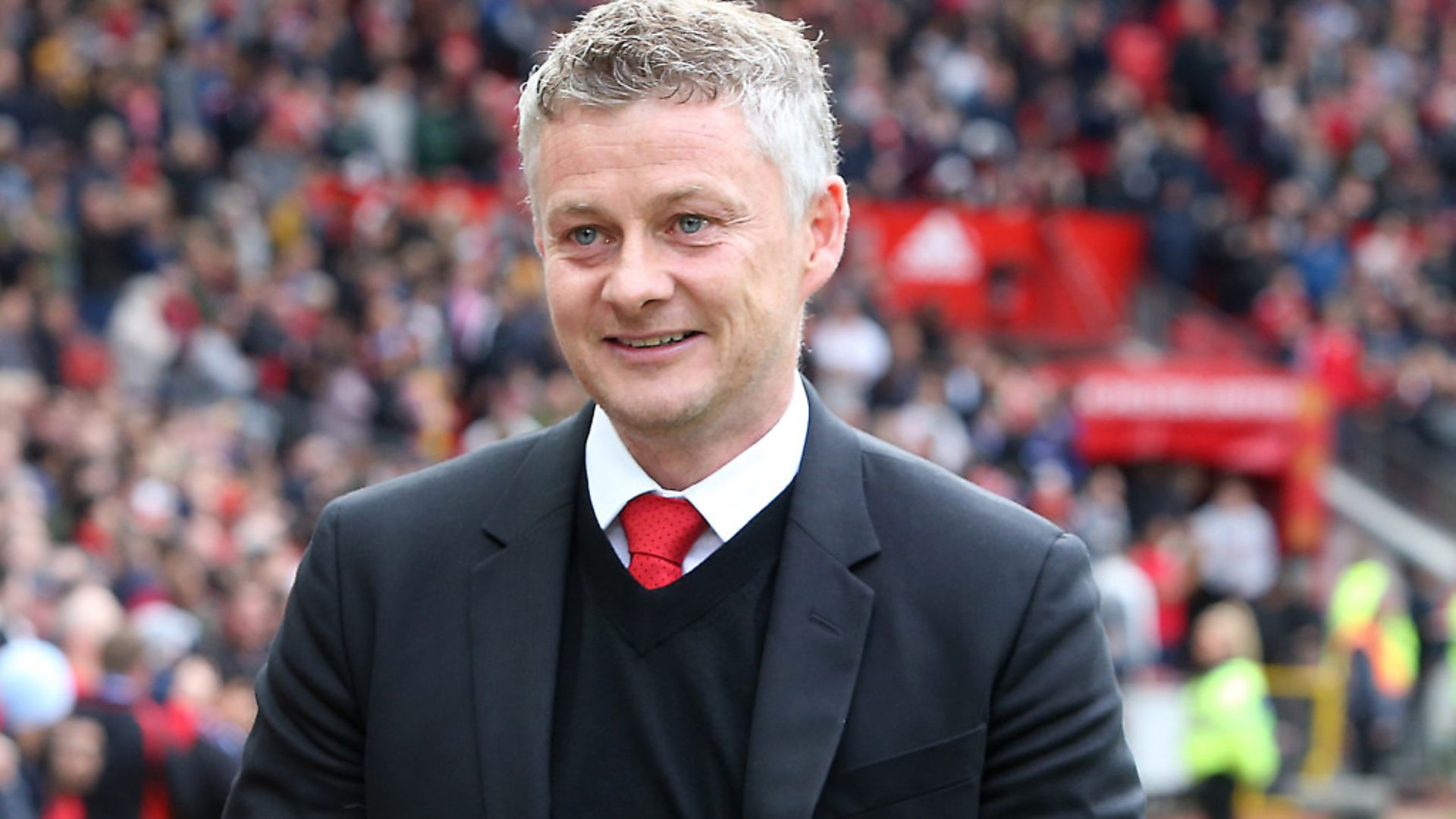 MANCHESTER, ENGLAND - APRIL 28: Manager Ole Gunnar Solskjaer of Manchester United walks out ahead of the Premier League match between Manchester United and Chelsea FC at Old Trafford on April 28, 2019 in Manchester, United Kingdom. (Photo by Matthew Peters/Man Utd via Getty Images) - Credit: Man Utd via Getty Images