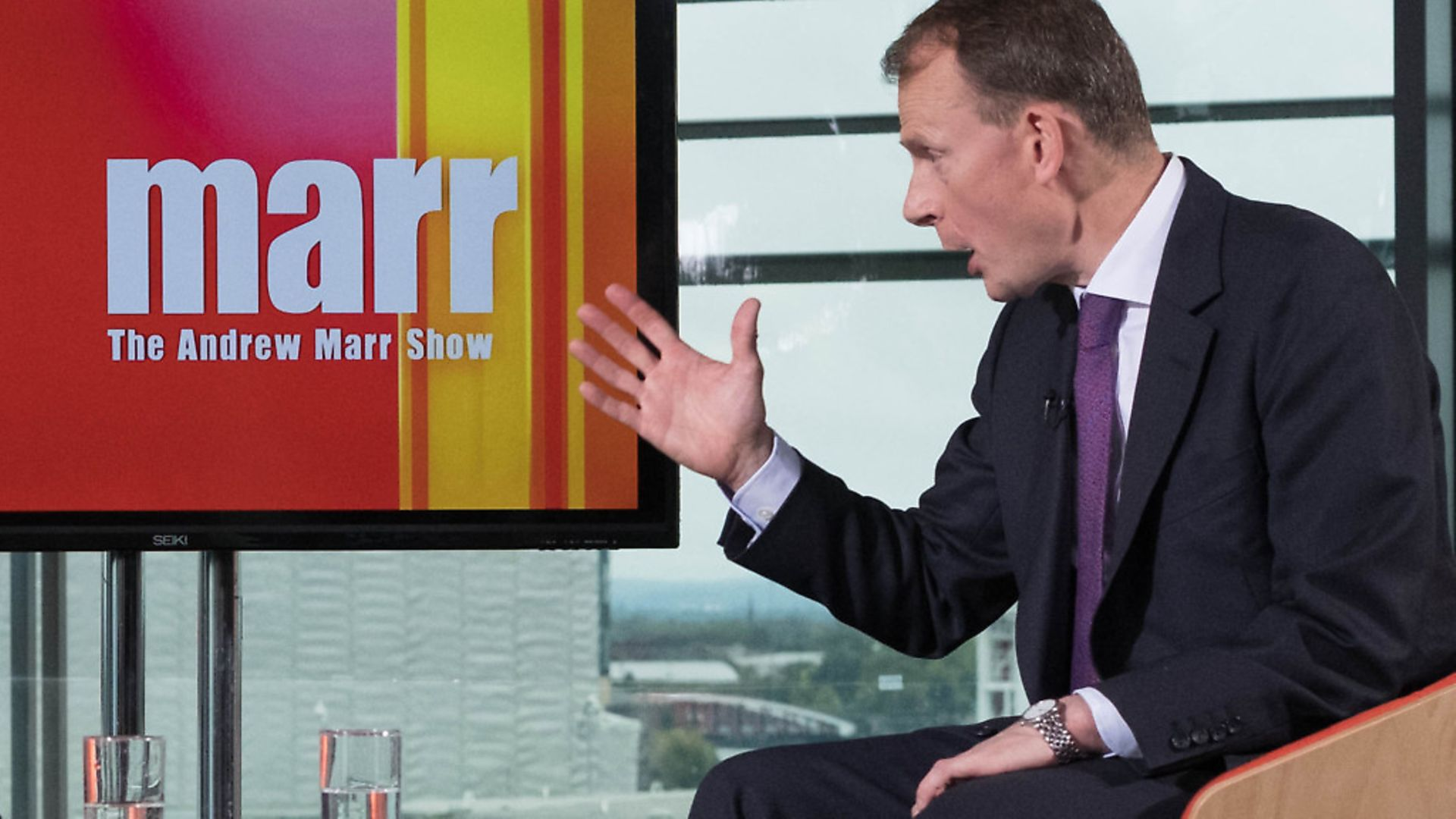 The Andrew Marr Show. Photograph: Stefan Rousseau/PA. - Credit: PA Wire/PA Images