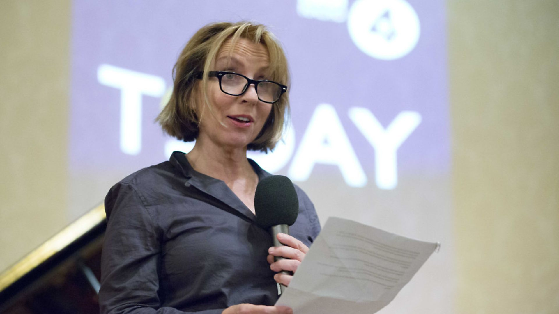Editor of BBC Radio 4's Today programme Sarah Sands speaks to a live audience at Wigmore Hall. Picture: PA - Credit: PA Archive/PA Images