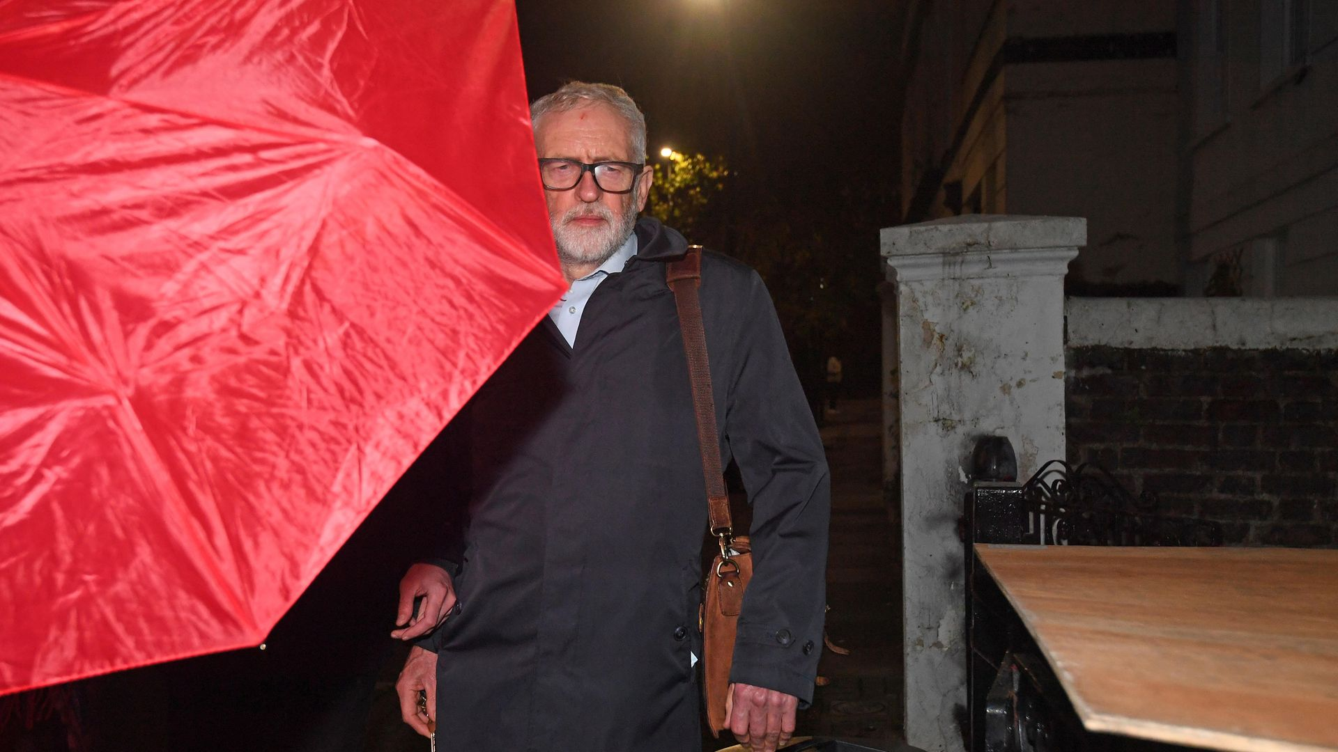 Former Labour leader Jeremy Corbyn arrives at his house in North London - Credit: PA