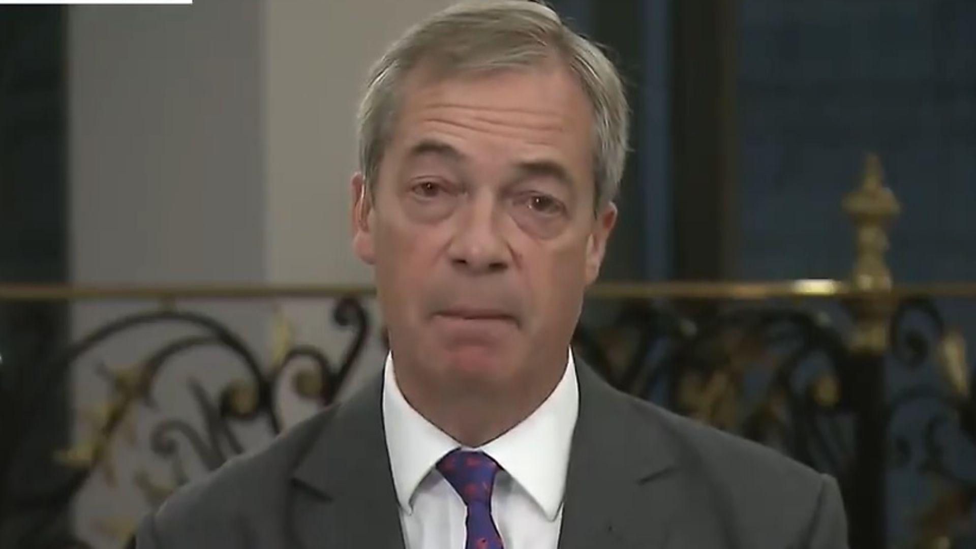 Nigel Farage on Good Morning Britain - Credit: ITV